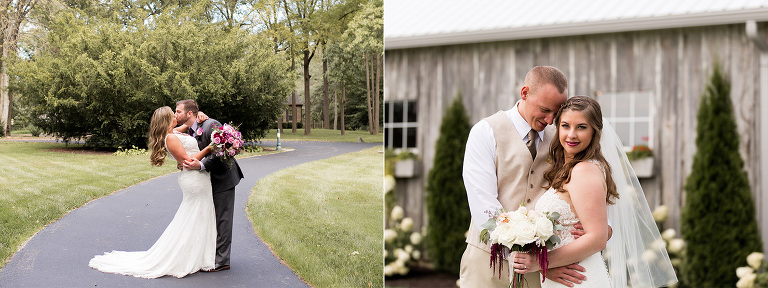 wedding couple at The Barn on Boundary in Eaton Indiana