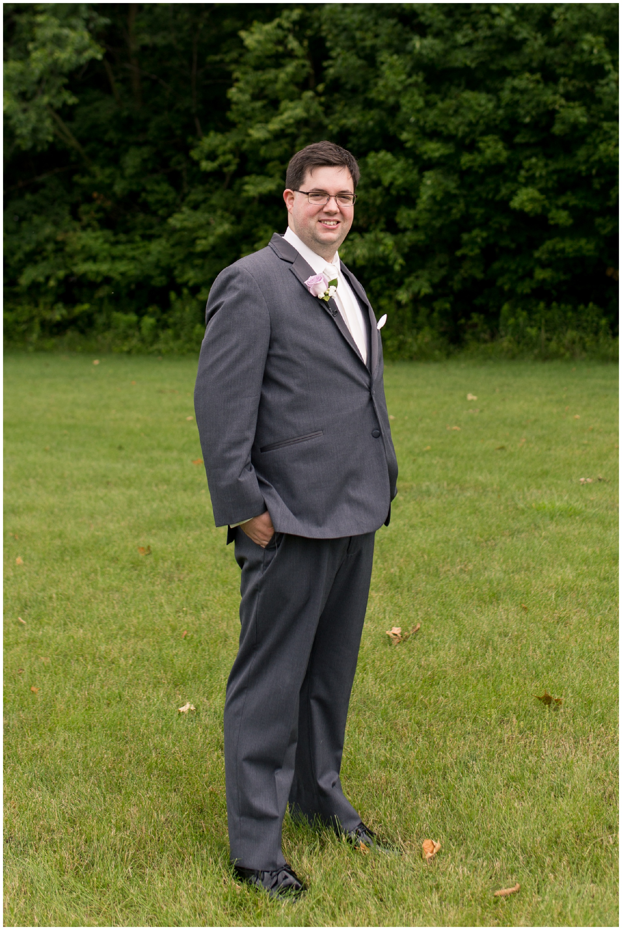 groom portraits at Crossroads Community Church in Kokomo Indiana