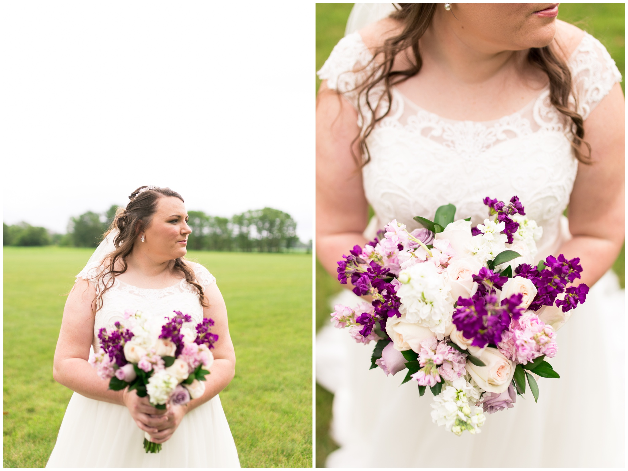 bride portraits before wedding ceremony at Crossroads Community Church in Kokomo Indiana