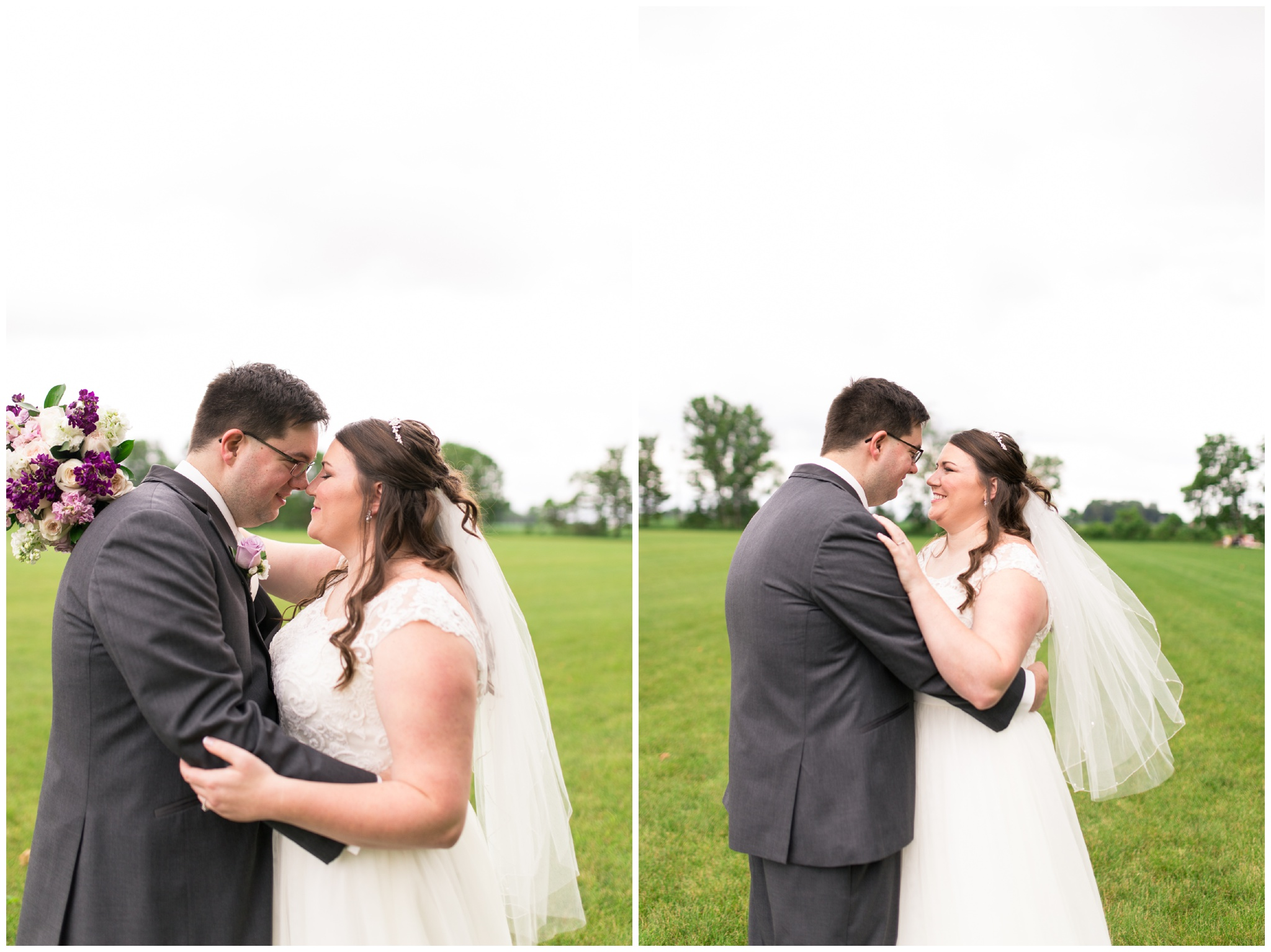 bride and groom portraits before Kokomo Indiana wedding
