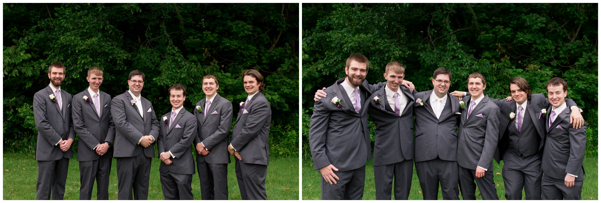 groom and groomsmen portraits before Kokomo Indiana wedding