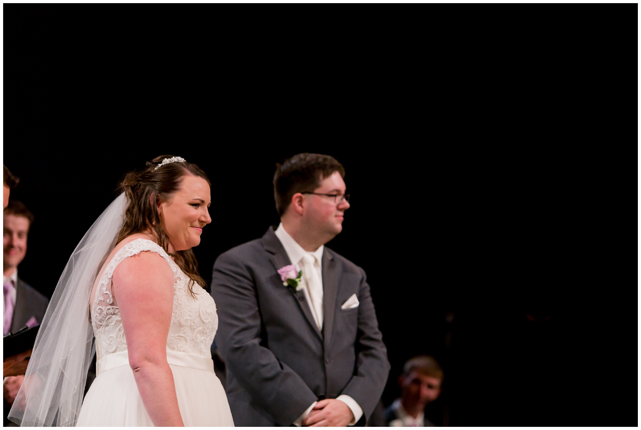bride and groom during Kokomo Indiana wedding ceremony