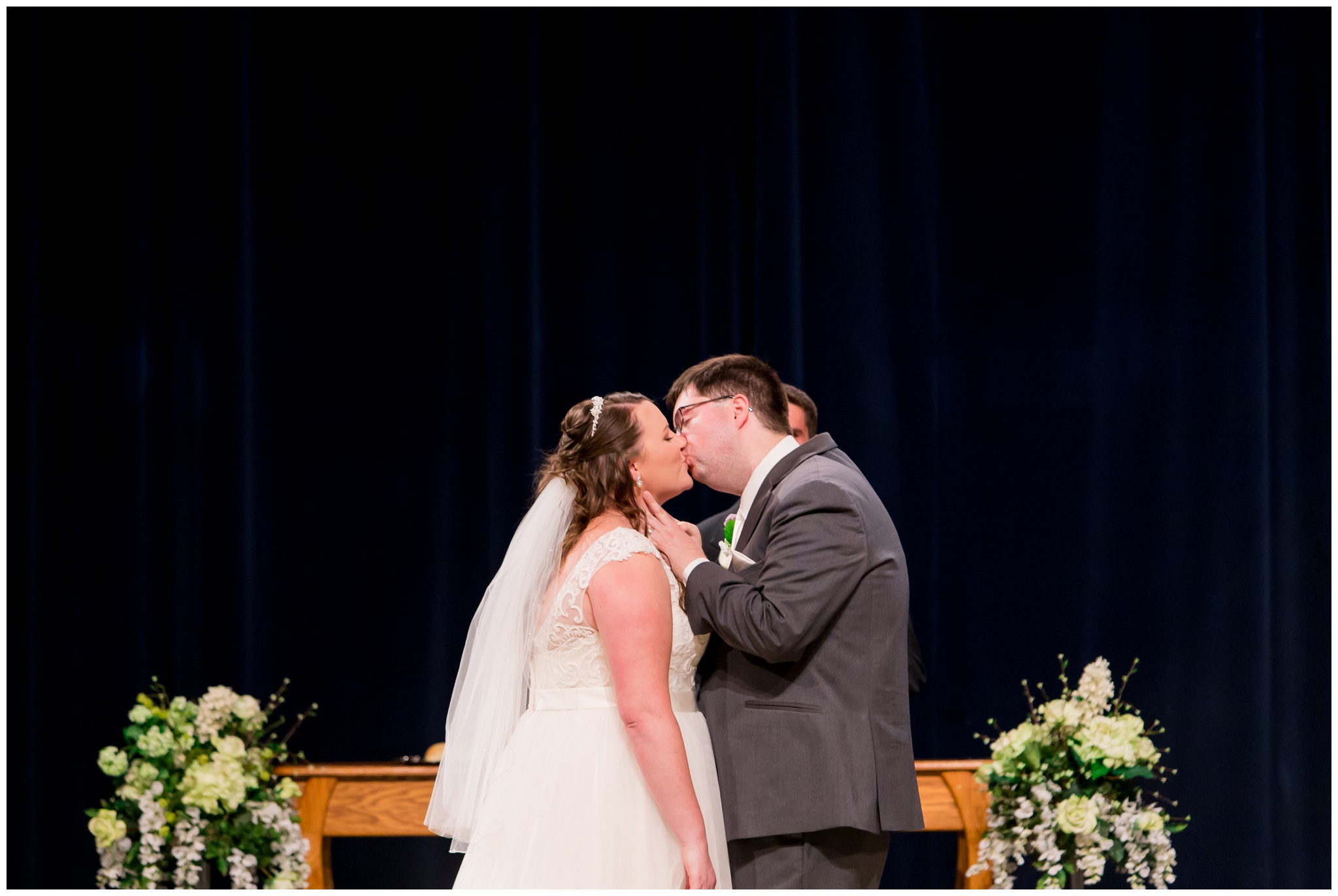 Crossroads Community Church wedding ceremony in Kokomo Indiana