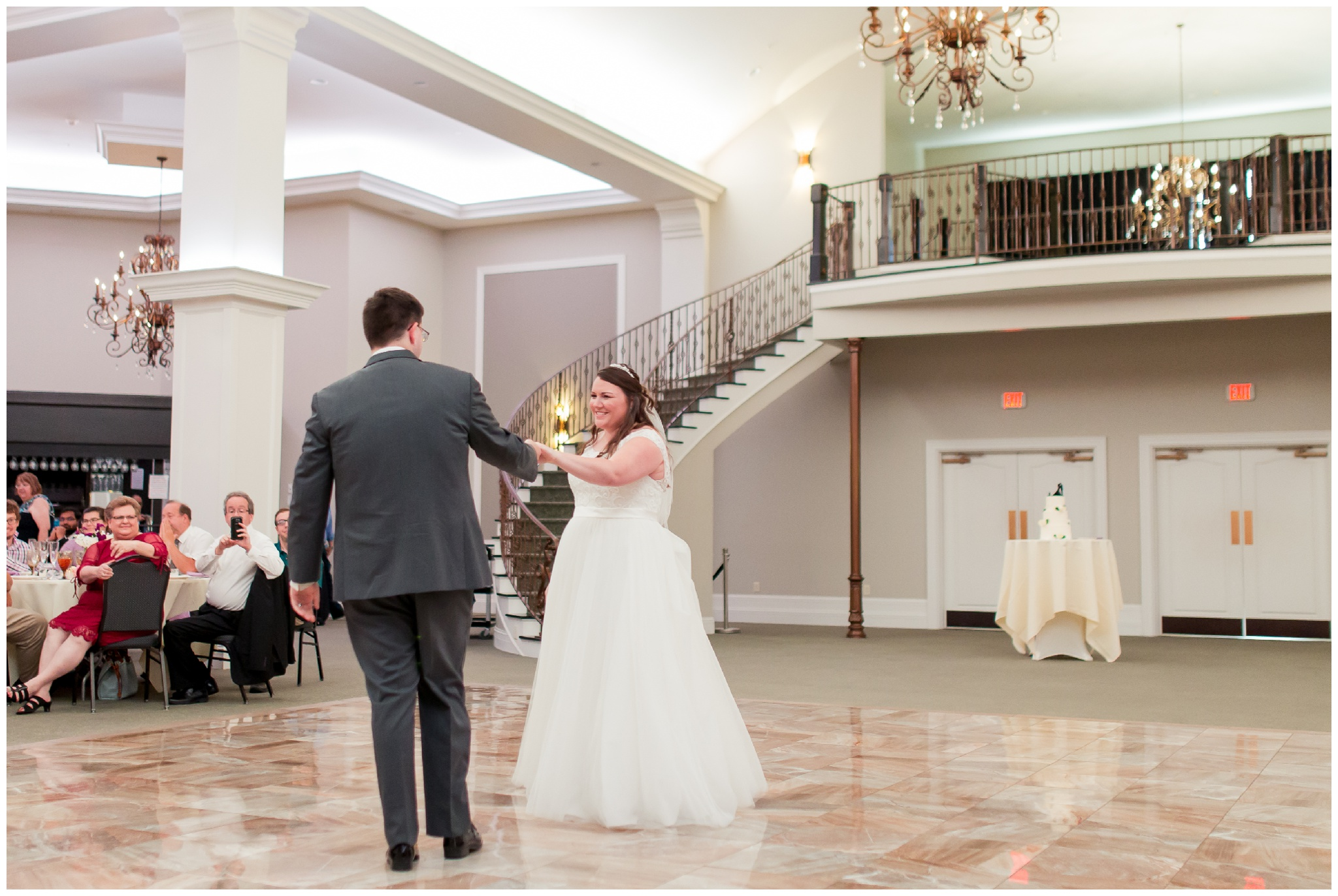 bride and groom first dance at Bel Air Events Kokomo Indiana