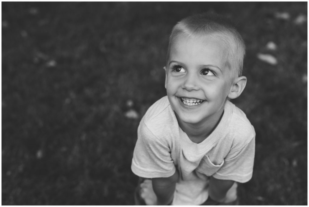 Boy portraits during Indianapolis backyard family portrait session