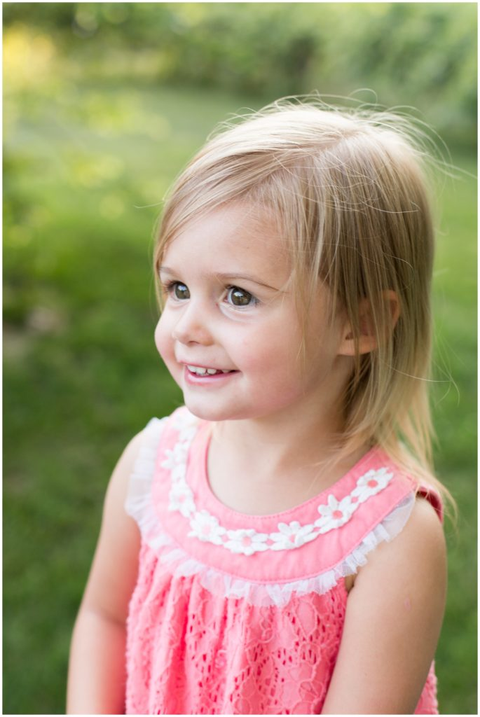 Girl portraits during Indianapolis backyard family portrait session