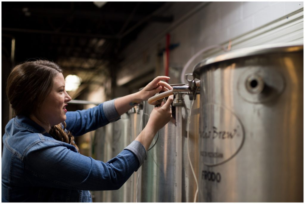 Engagement session at LaOtto Brewing Company in LaOtto, Indiana