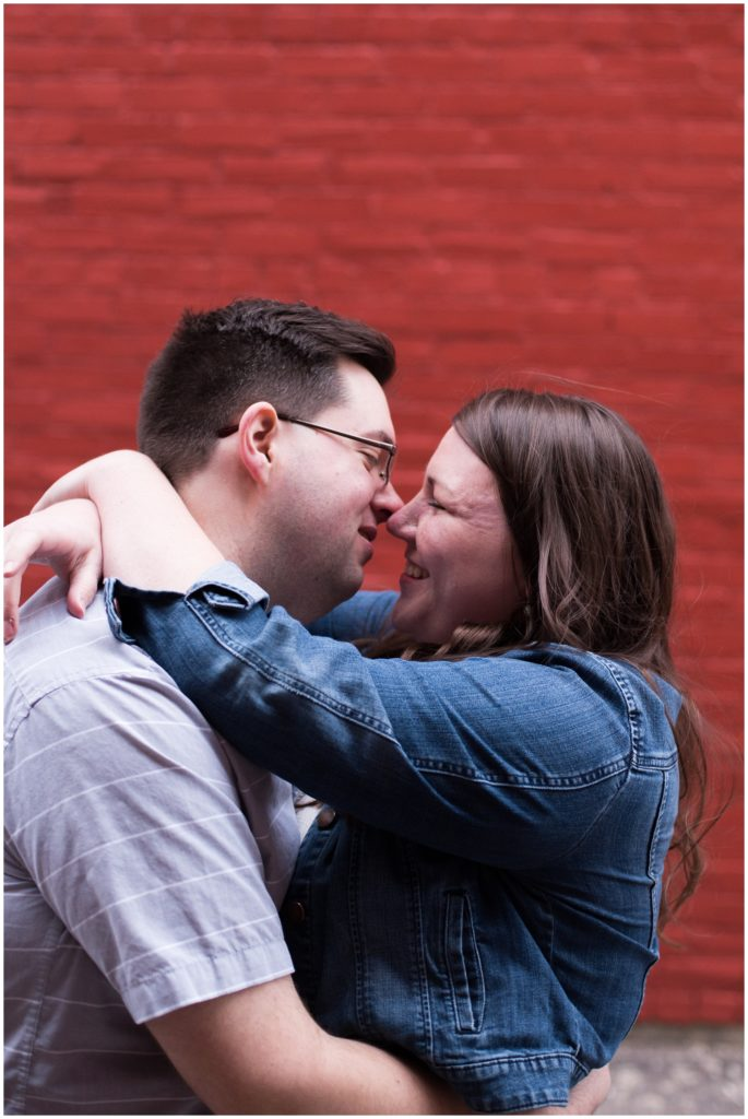 Engagement session in downtown Kokomo Indiana