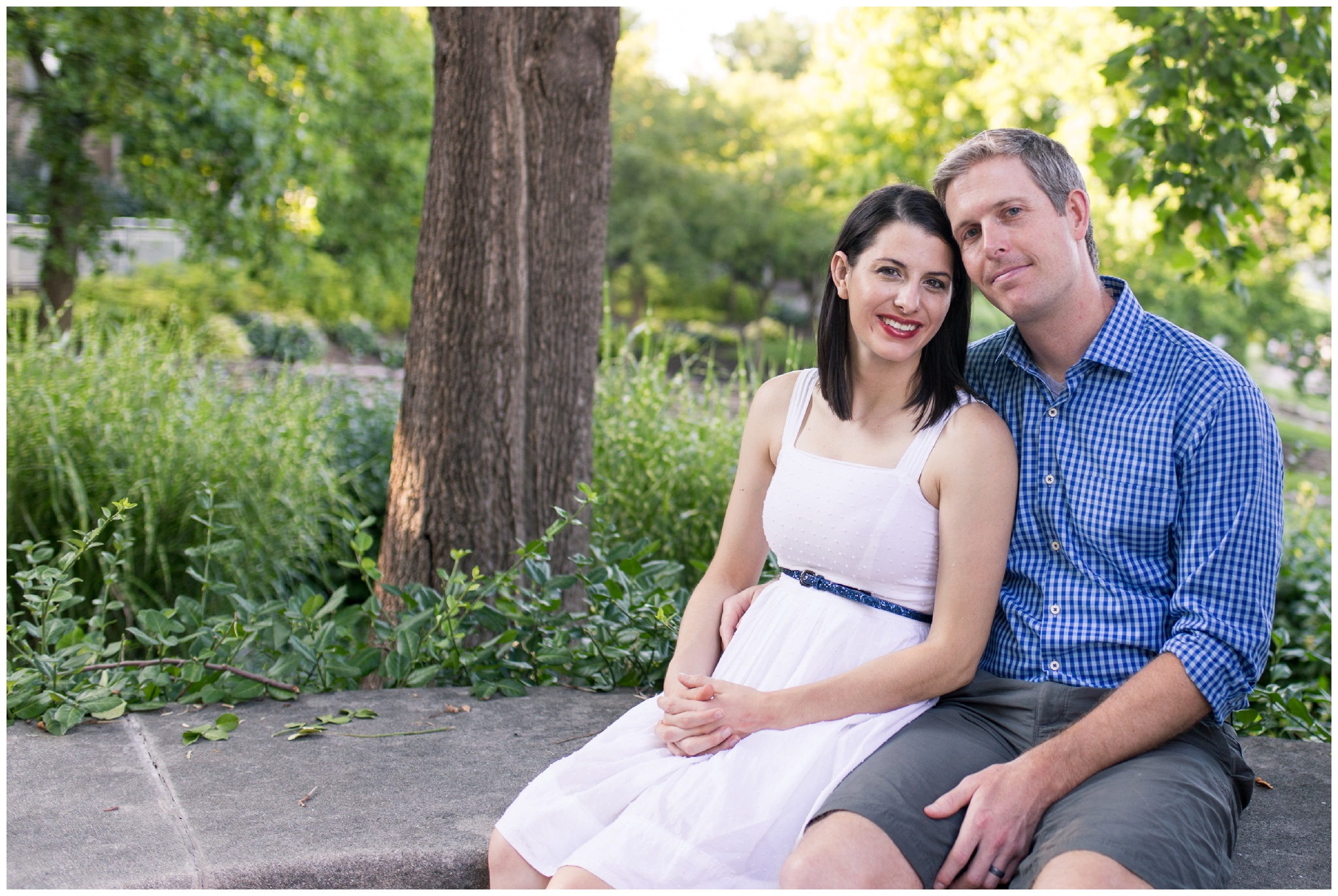 Couples photo session along downtown Indy canal