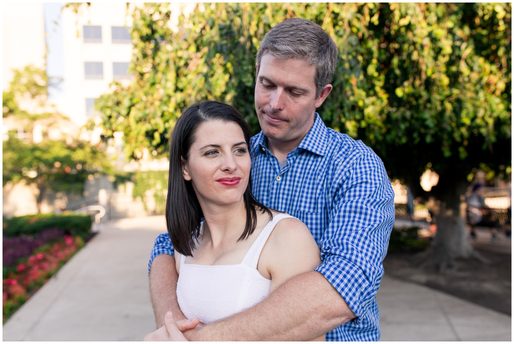 Couples portrait session along downtown Indianapolis canal