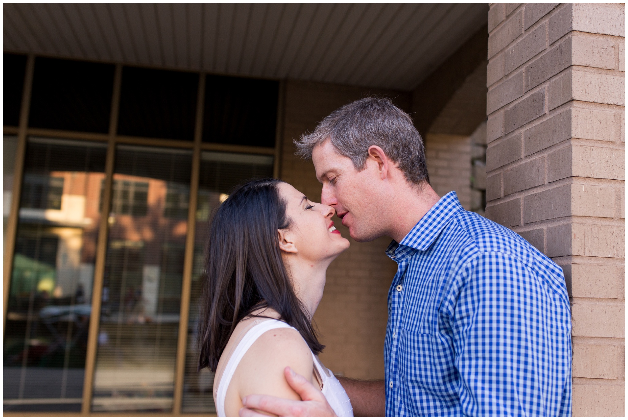 Couple portrait session along downtown Indy canal