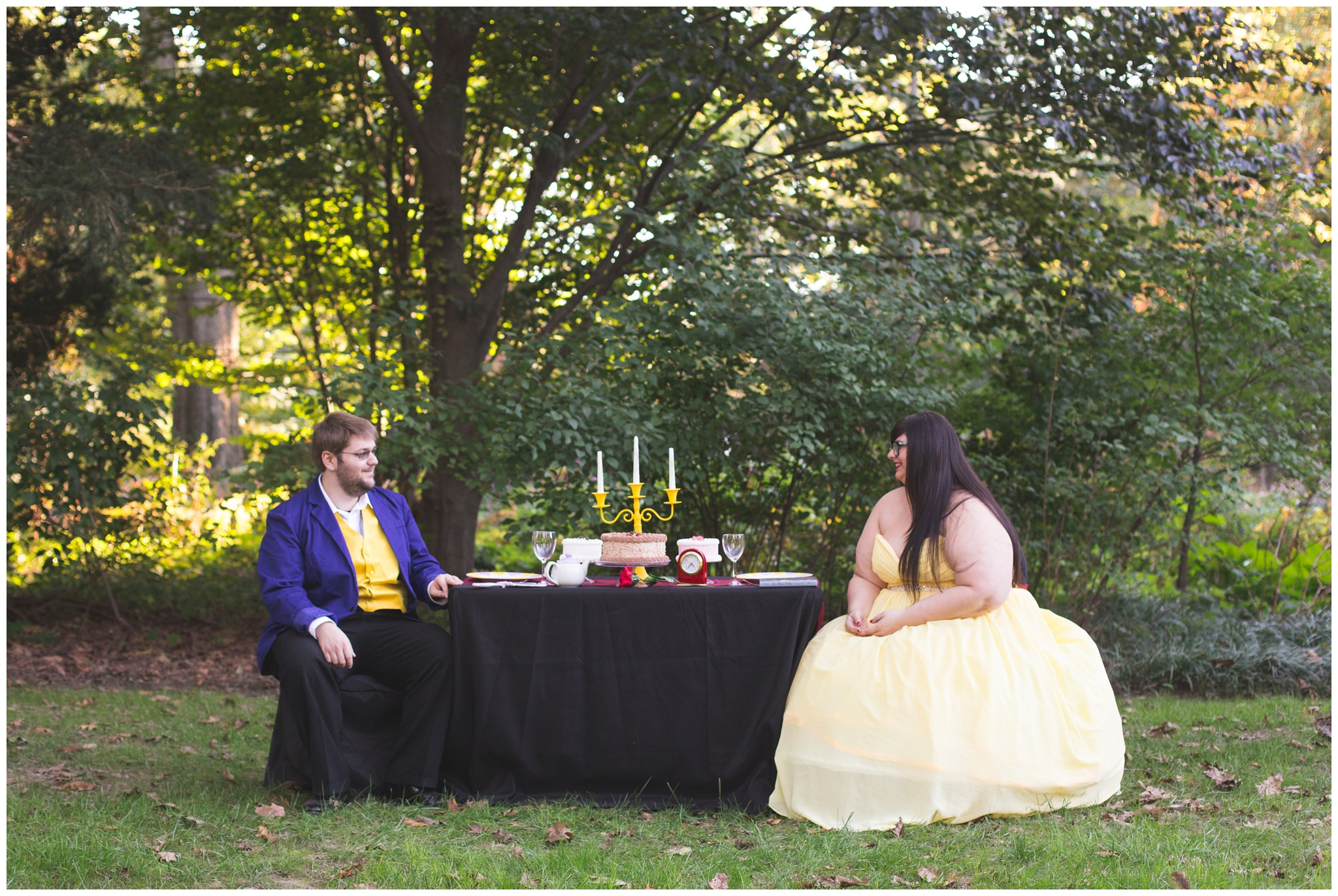 Beauty And The Beast Inspired Engagement Session At Indianapolis Museum Of Art