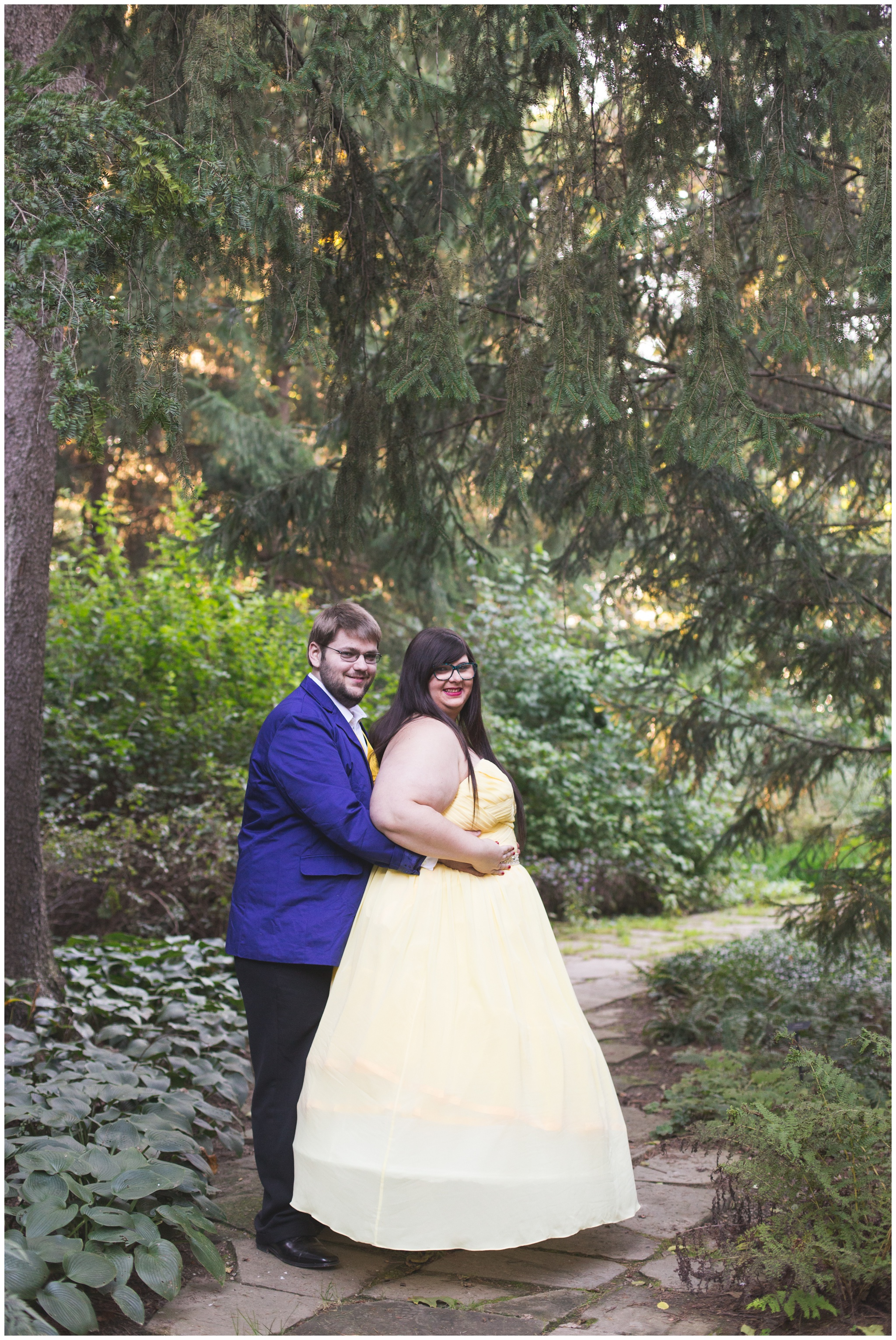 couple dressed as Beauty and the Beast at Indianapolis Museum of Art