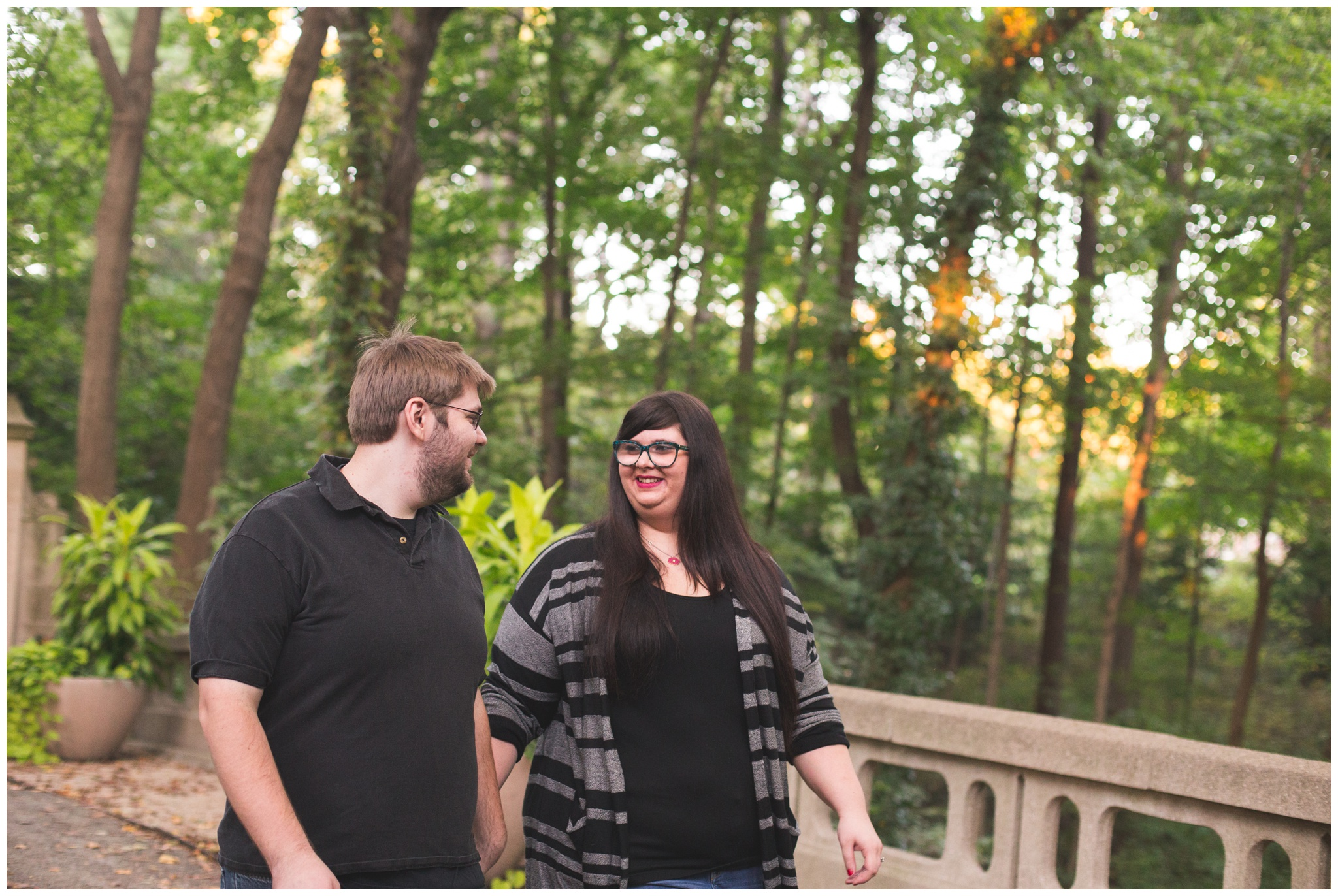 engagement session at Indianapolis Museum of Art