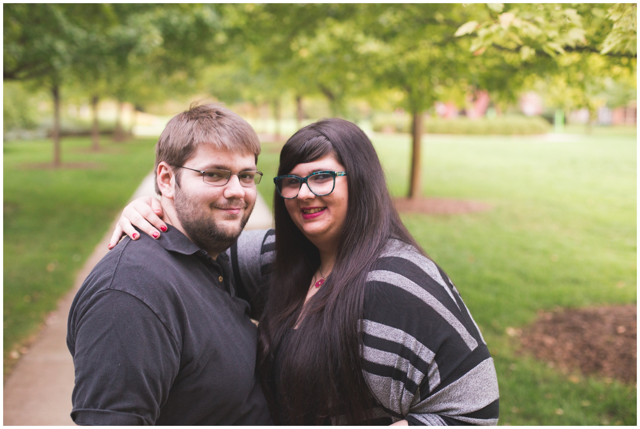 Indianapolis Museum of Art gardens engagement session