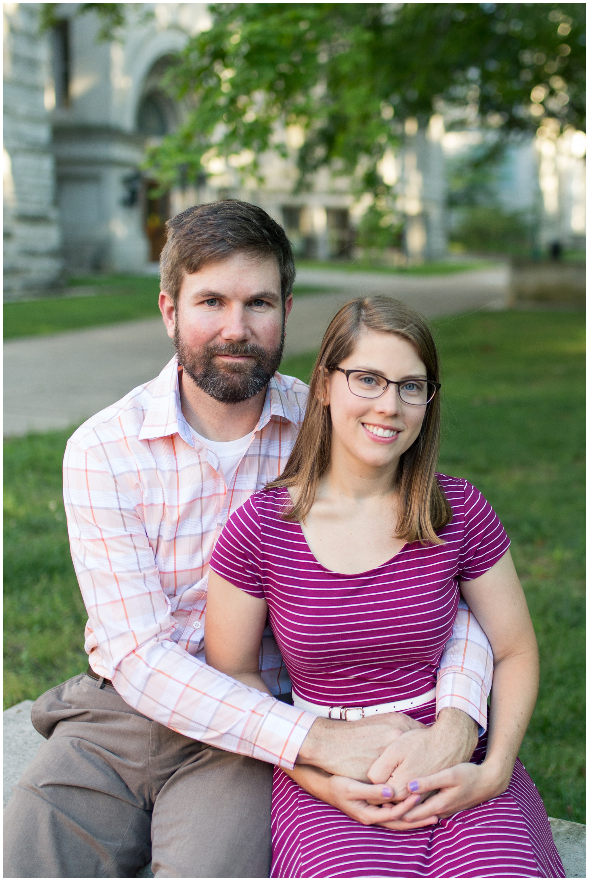 Indiana University Dunn Woods engagement session in Bloomington Indiana