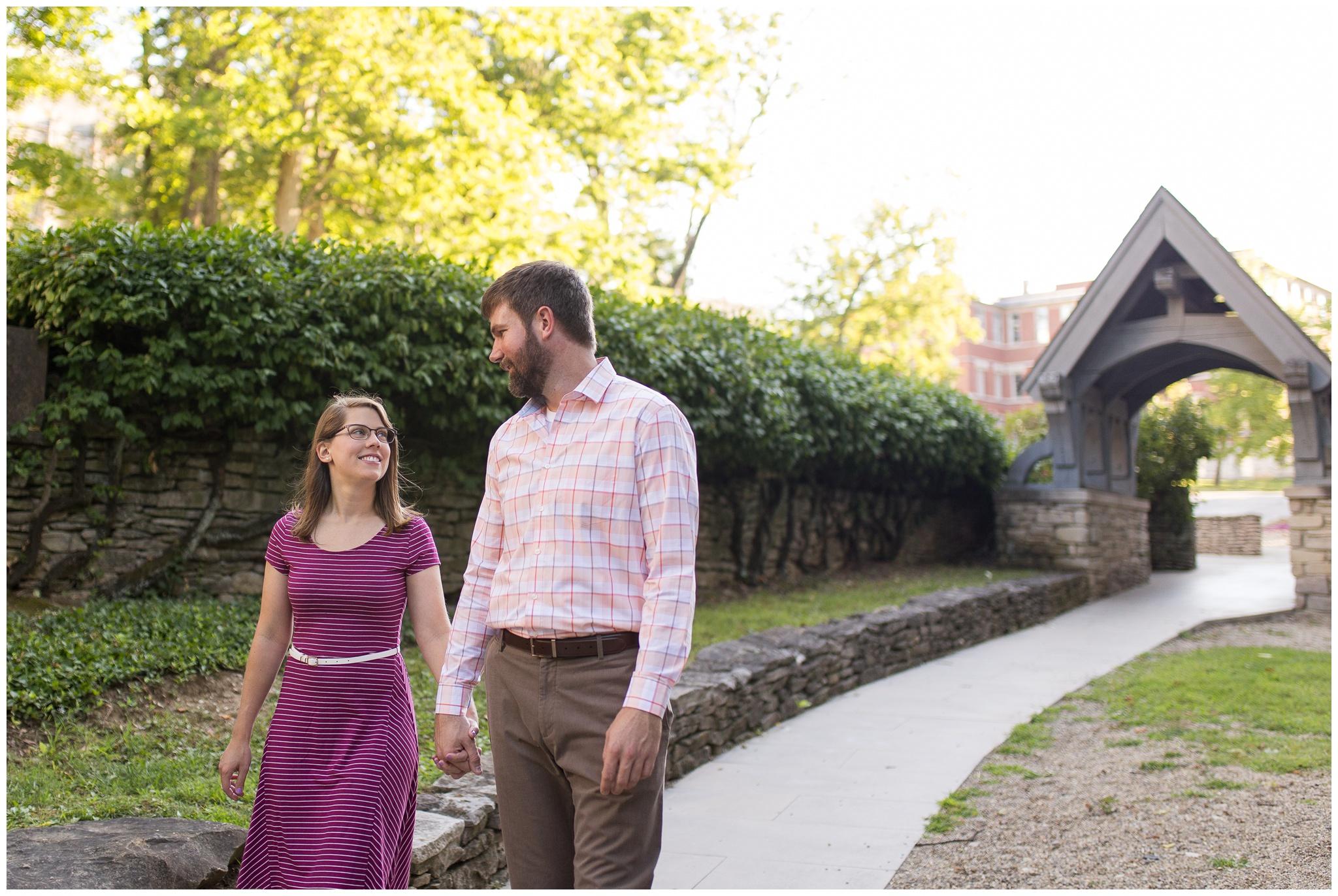 Indiana University Beck Chapel engagement session