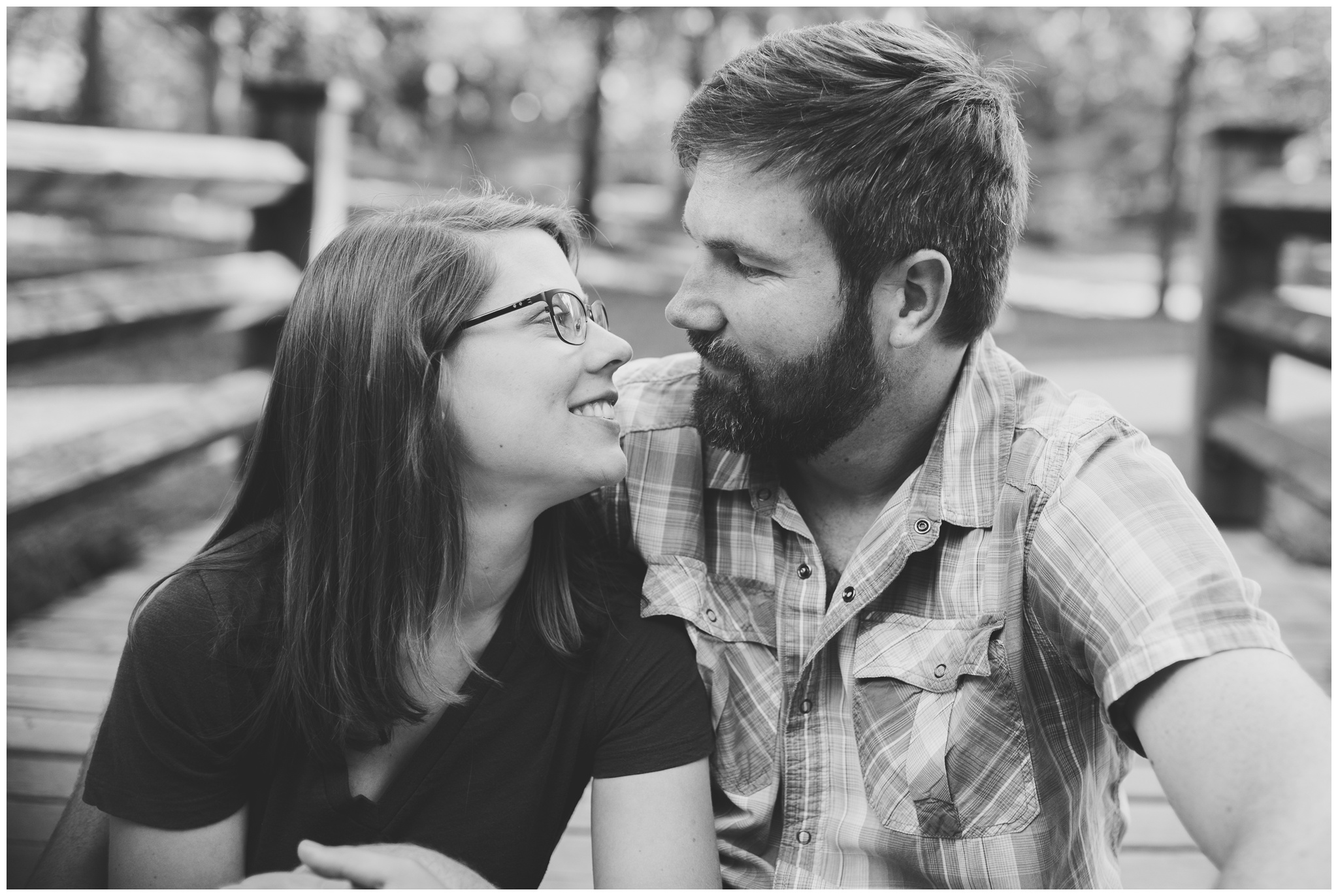 intimate engagement session at Indiana University in Bloomington Indiana