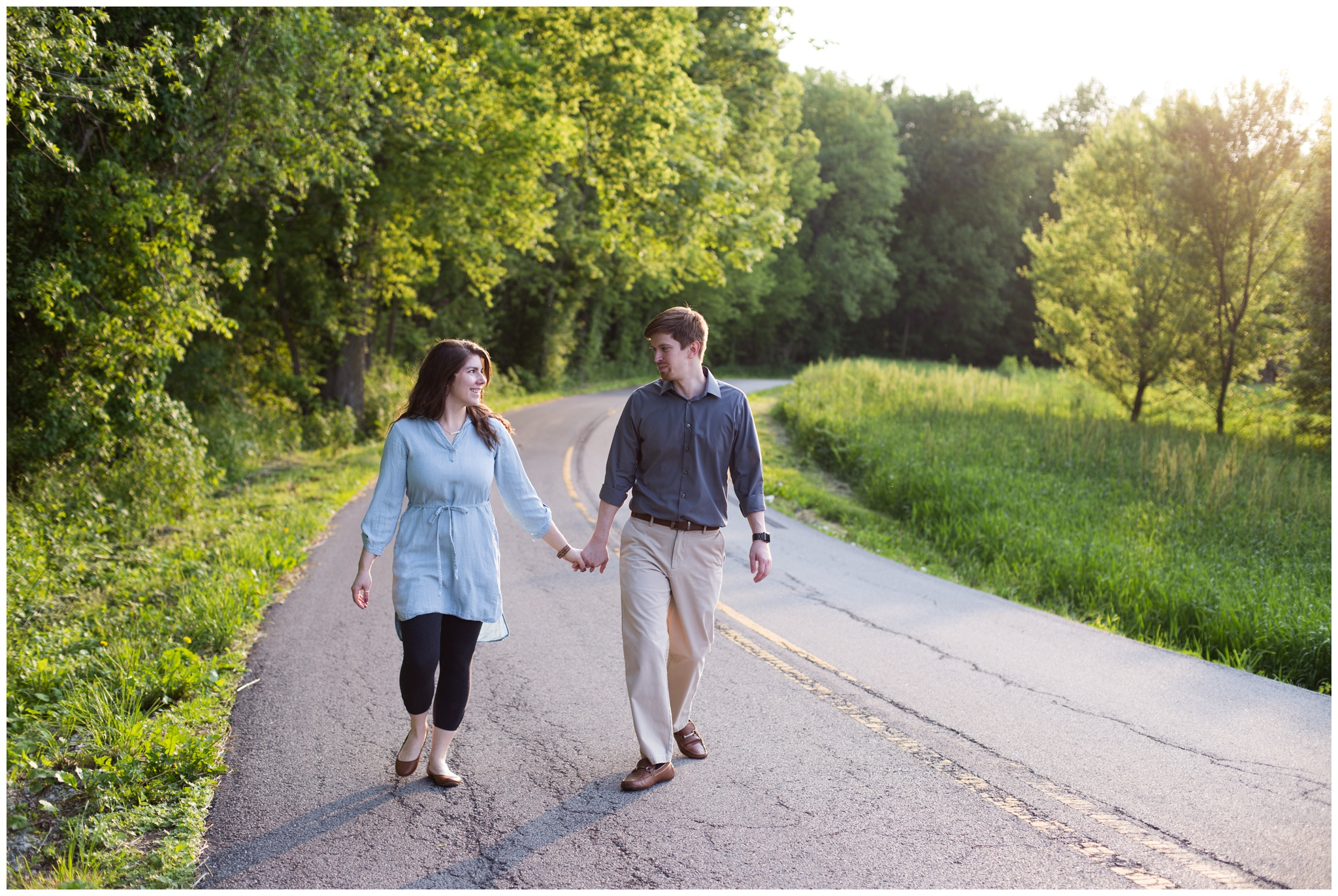 engagement session at Potters Bridge Park in Noblesville Indiana