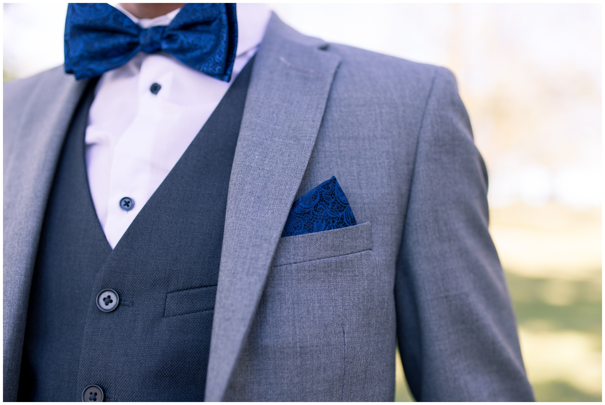 groom details of tie and pocket square
