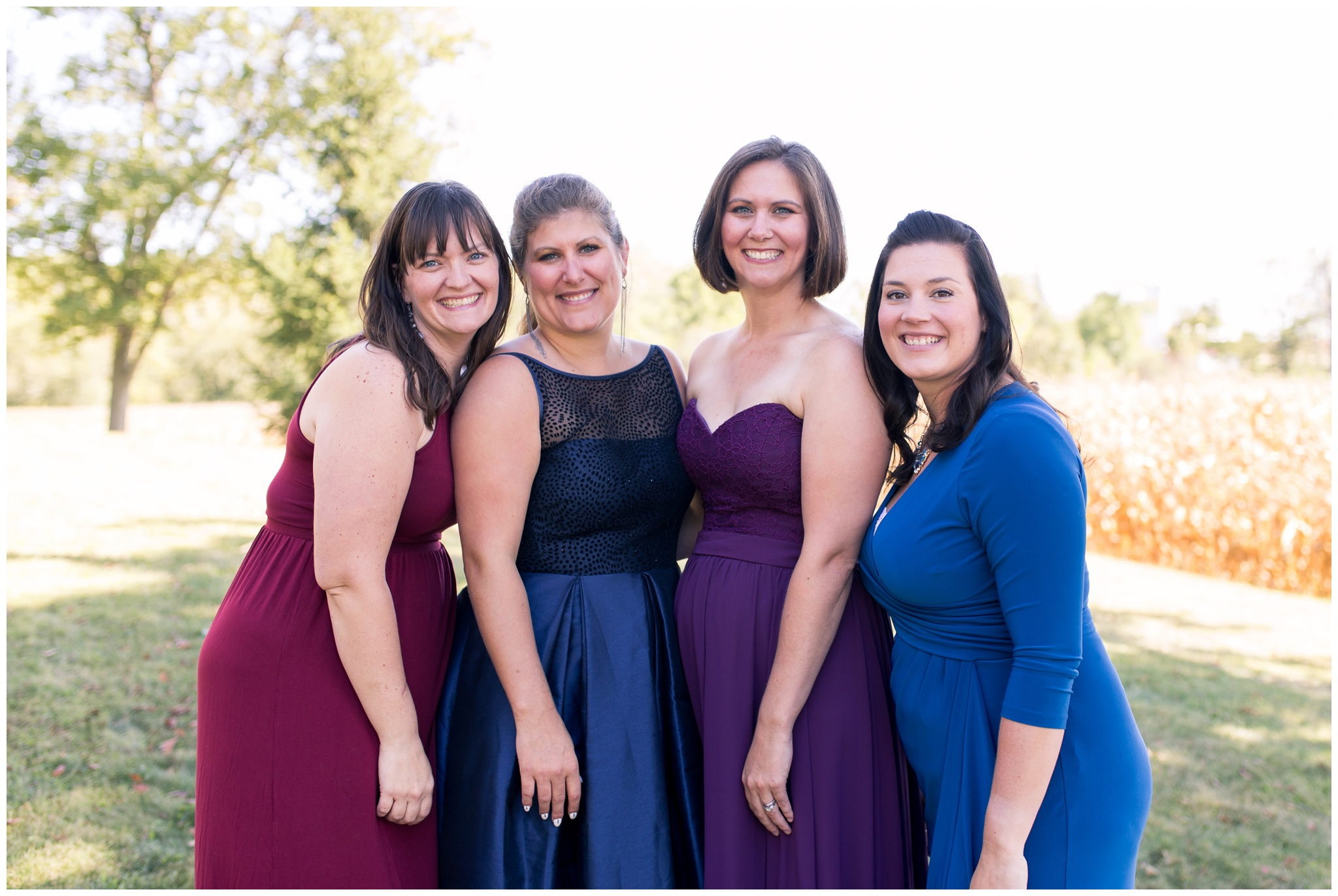 bride with bridesmaids before wedding in Greenville Ohio