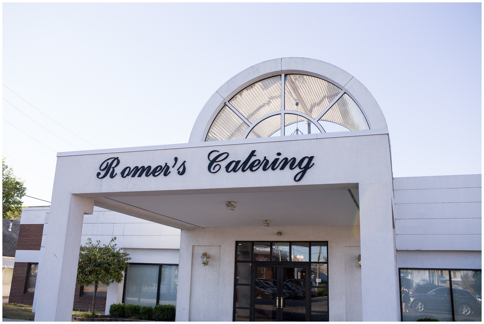 entrance to Romer's Catering in Greenville Ohio