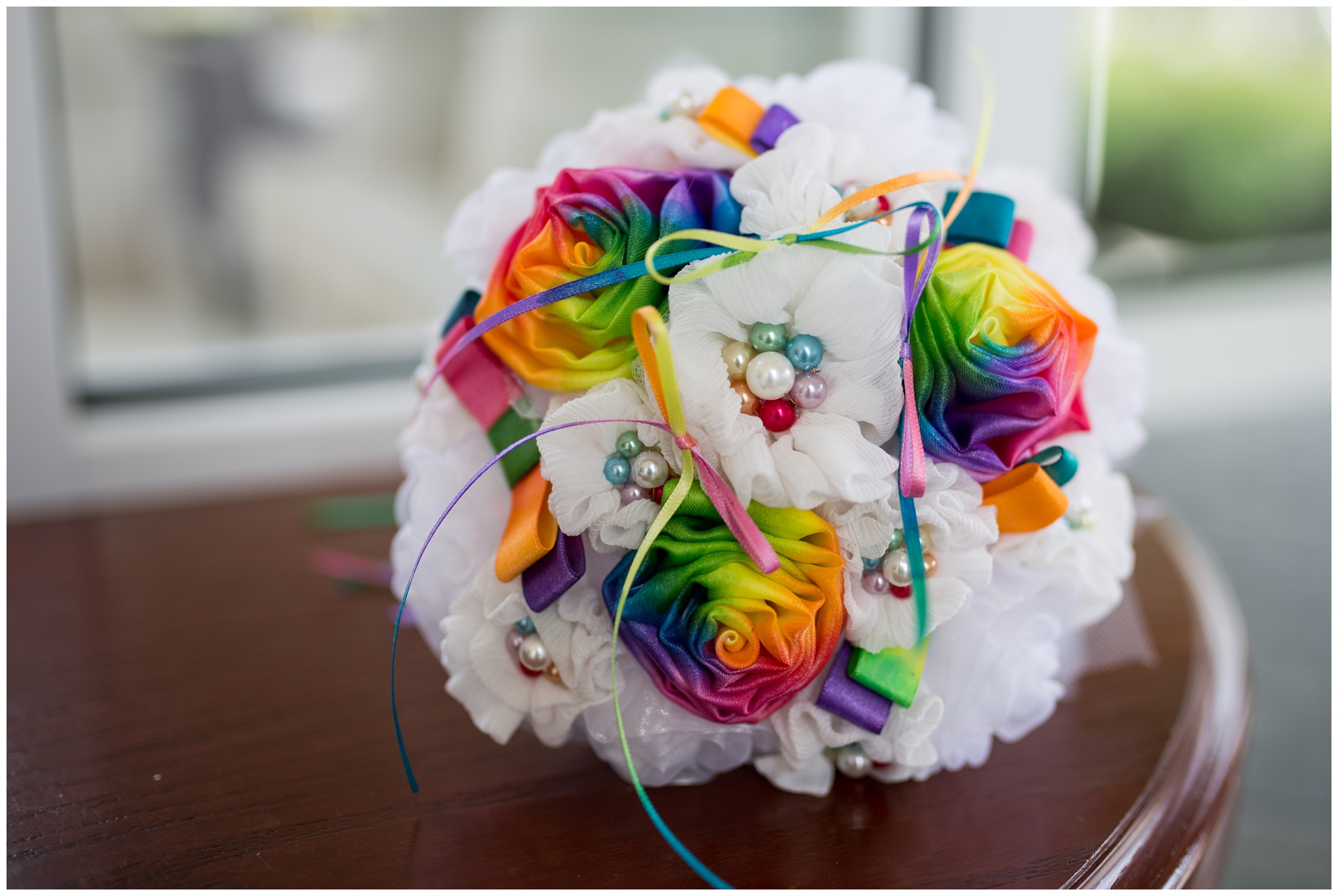 bride's bouquet at Community Life Center wedding in Indianapolis Indiana