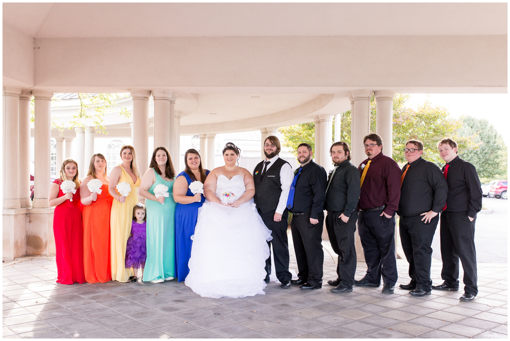 bridal party at Community Life Center in Indianapolis Indiana