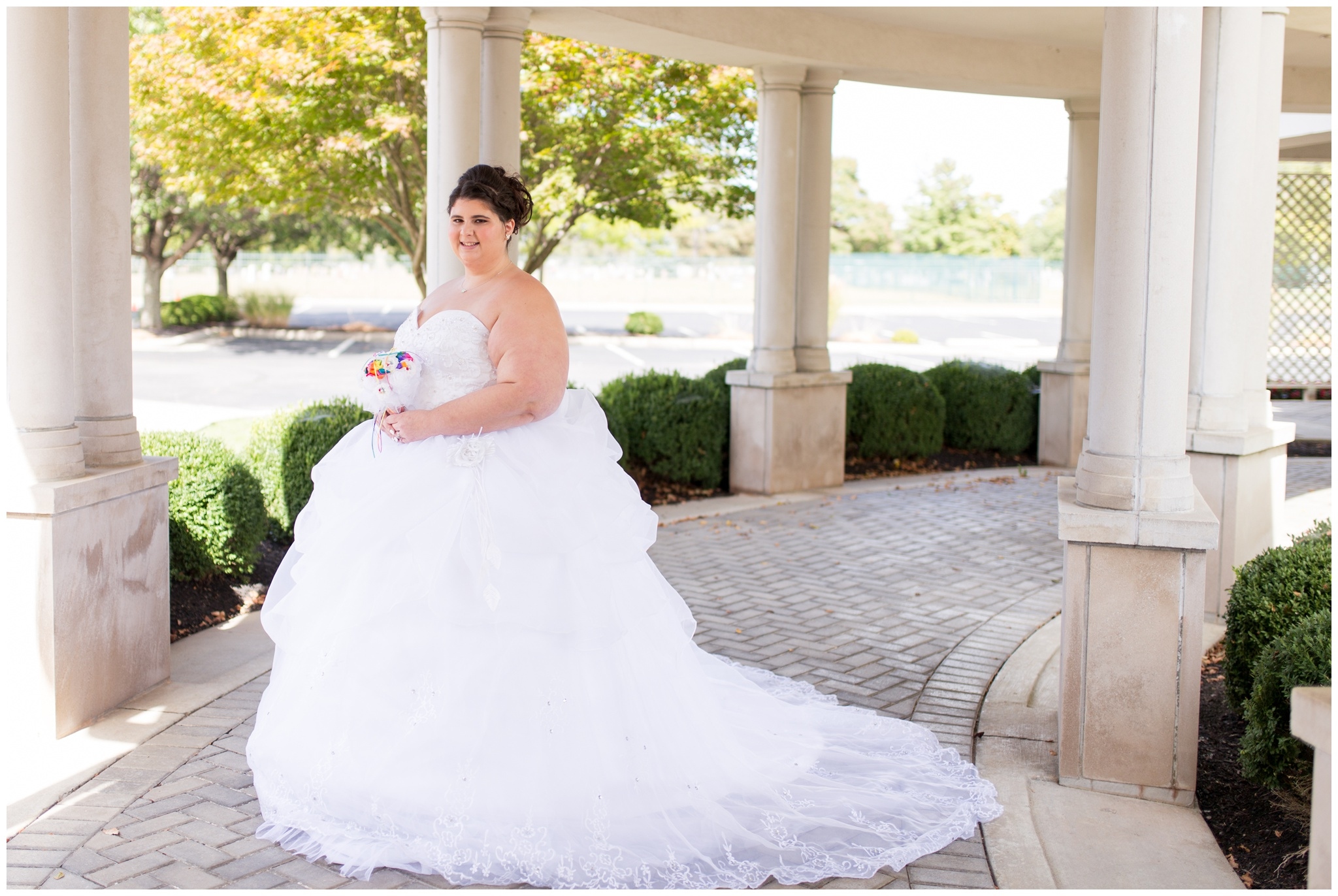 bride portraits at Community Life Center in Indianapolis Indiana