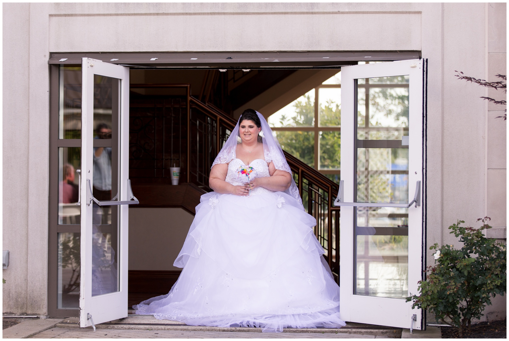 bride entrance during Community Life Center wedding in Indianapolis Indiana
