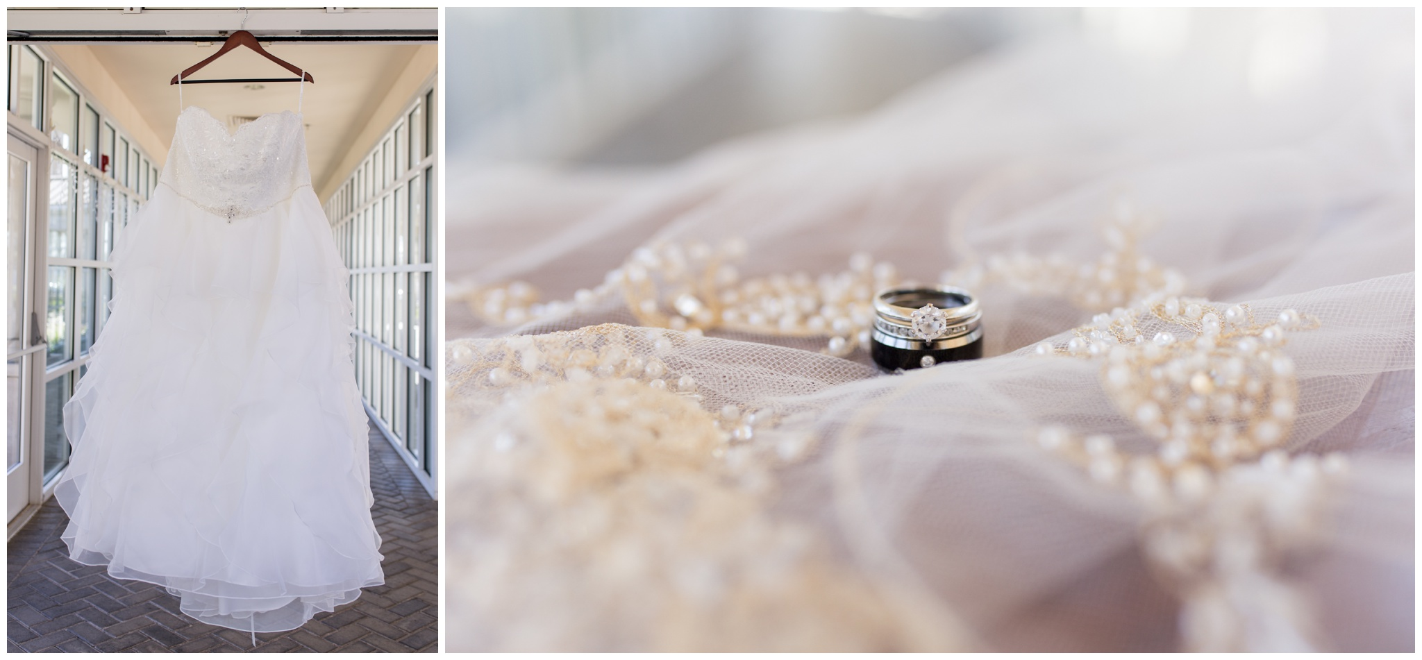 Community Life Center Indianapolis wedding photography wedding rings and veil