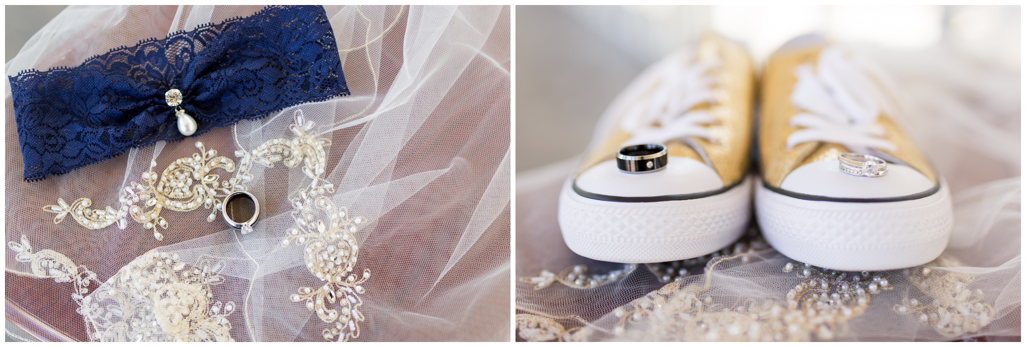 Community Life Center Indianapolis wedding photography shoes and veil