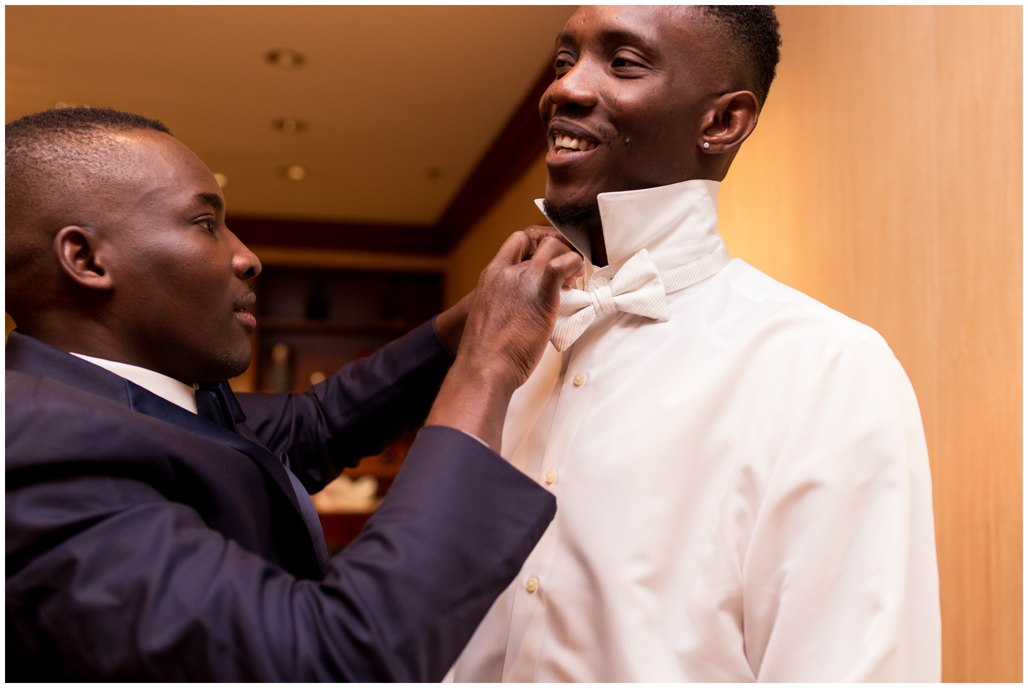 groom getting ready at Community Life Center Indianapolis