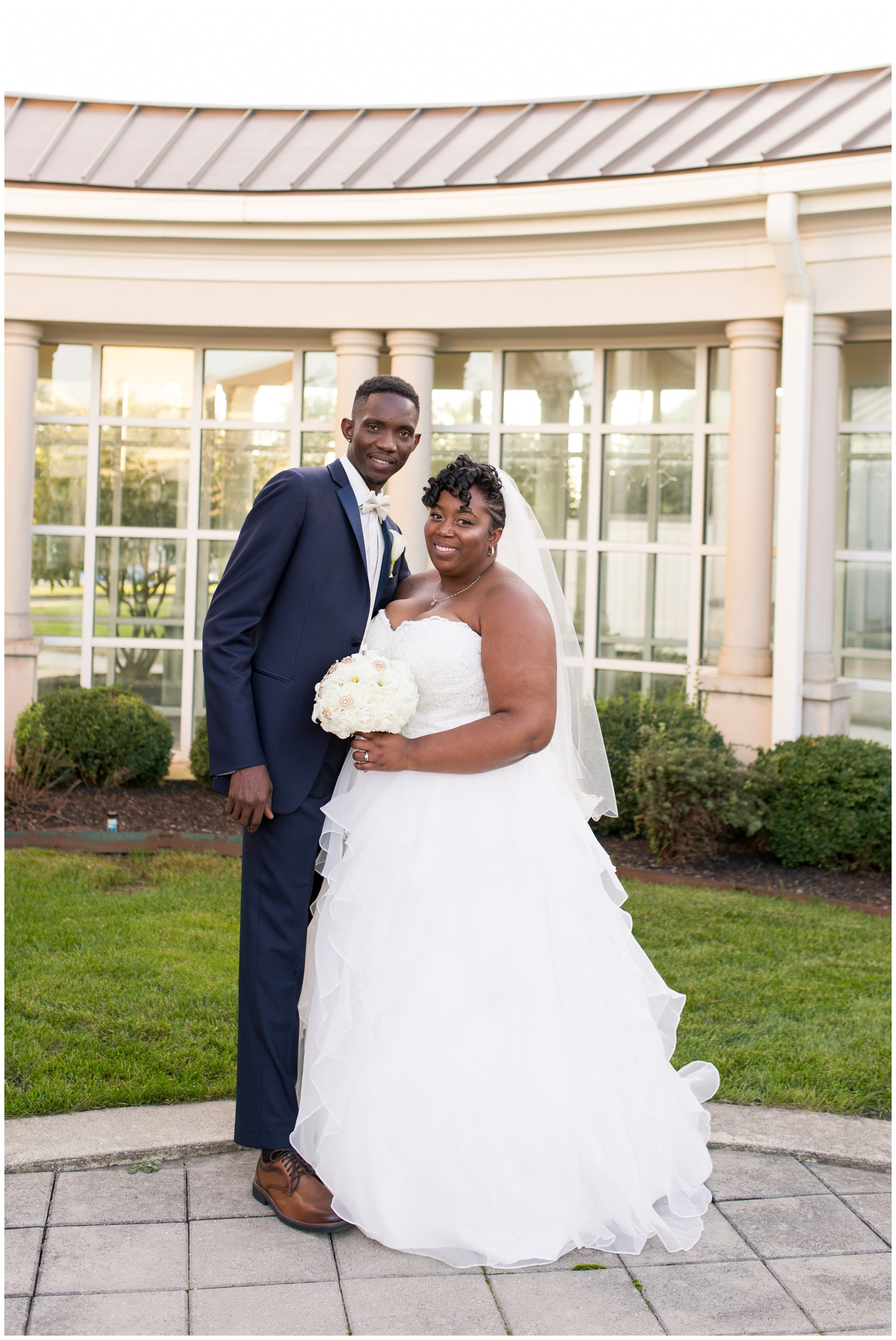 bride and groom portraits at Community Life Center Indianapolis wedding photography
