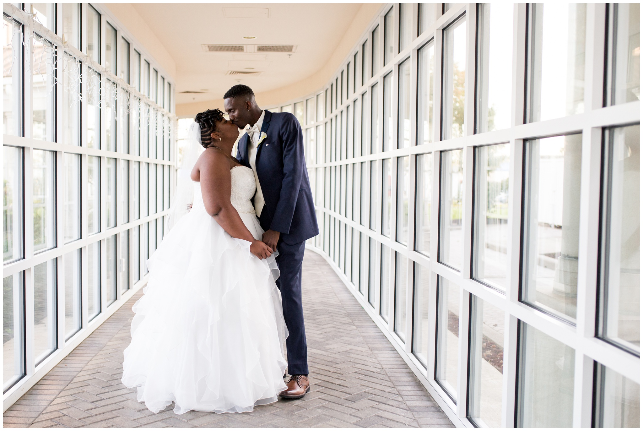bride and groom portraits at Community Life Center Indianapolis