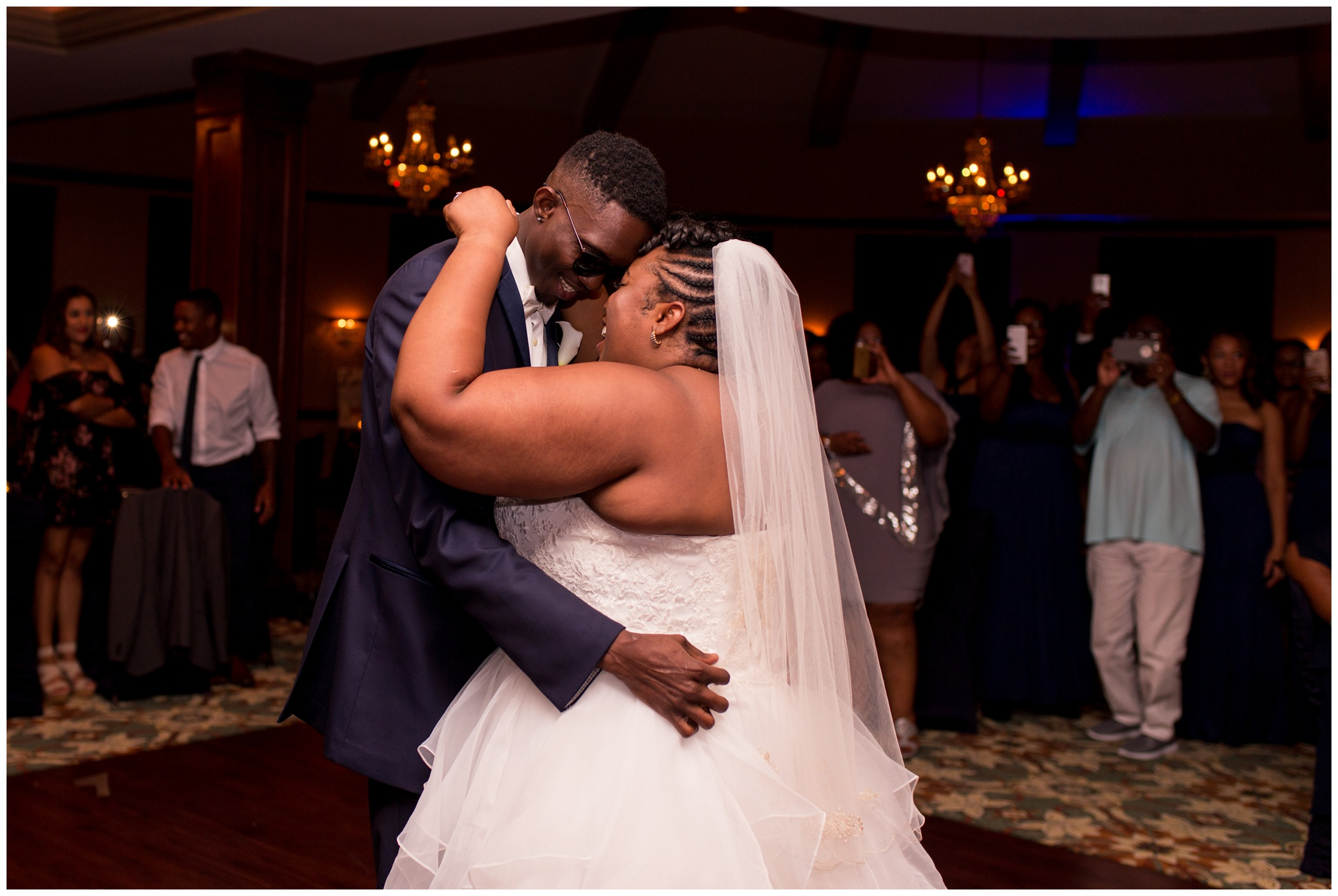 bride and groom first dance at Community Life Center Indianapolis wedding reception