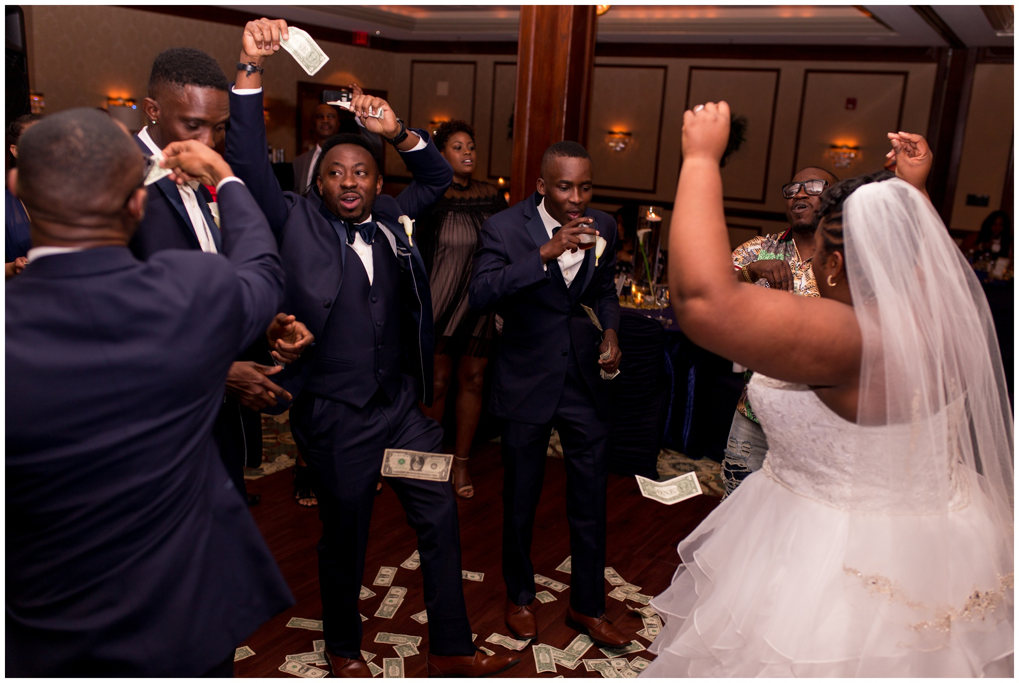 african dollar dance at Community Life Center Indianapolis wedding reception photography