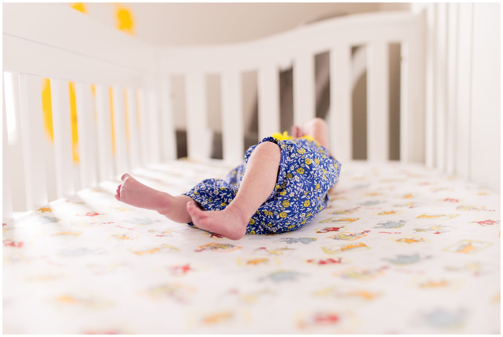 baby feet in crib during Indianapolis newborn lifestyle session
