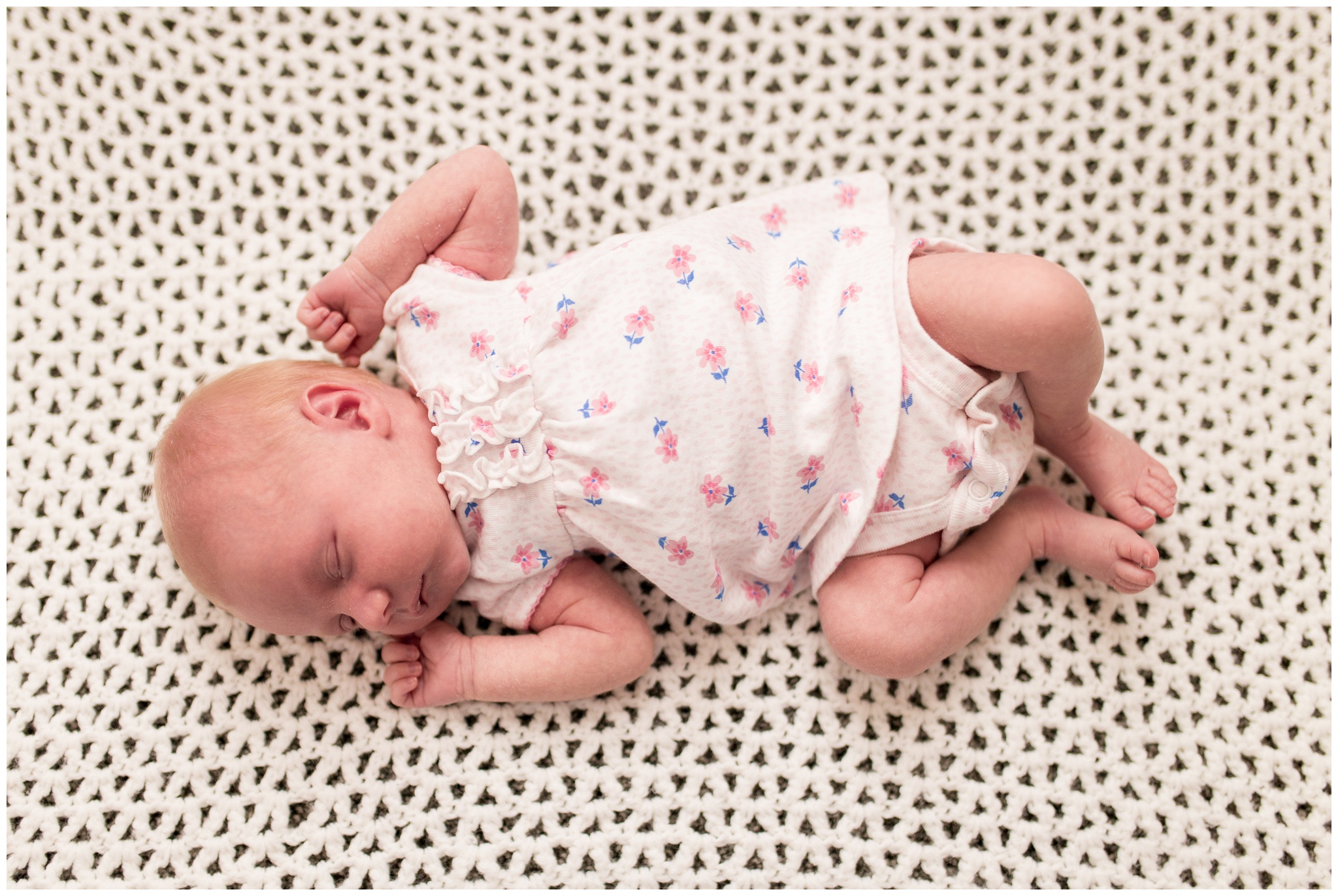 baby sleeping during newborn photography session in Indianapolis