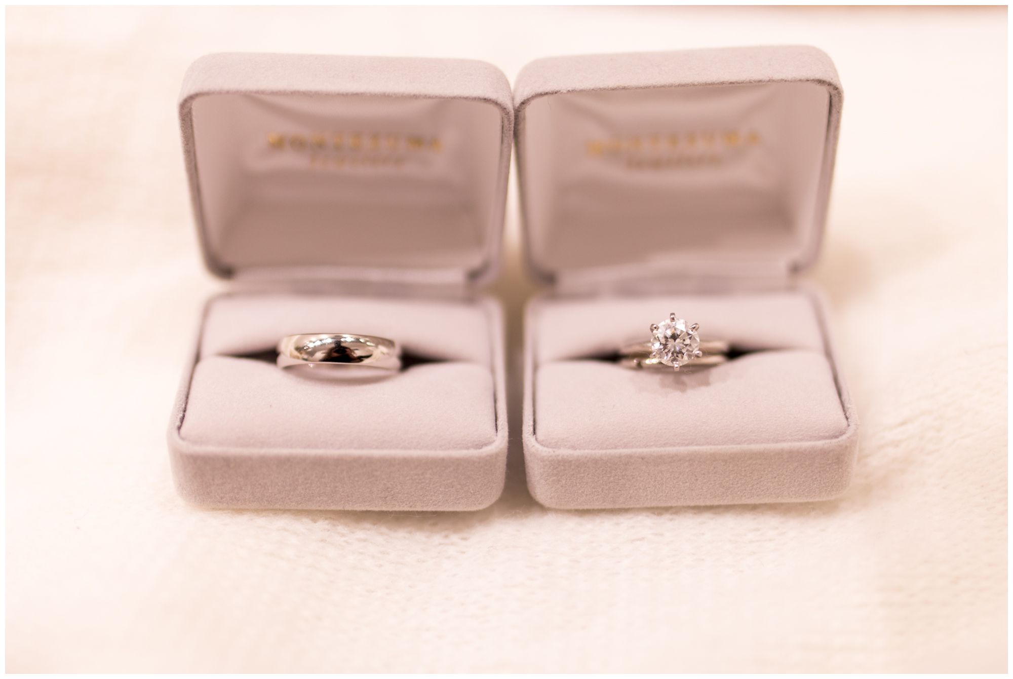 bride and groom's wedding rings for Indianapolis wedding at Redeemer Presbyterian Church
