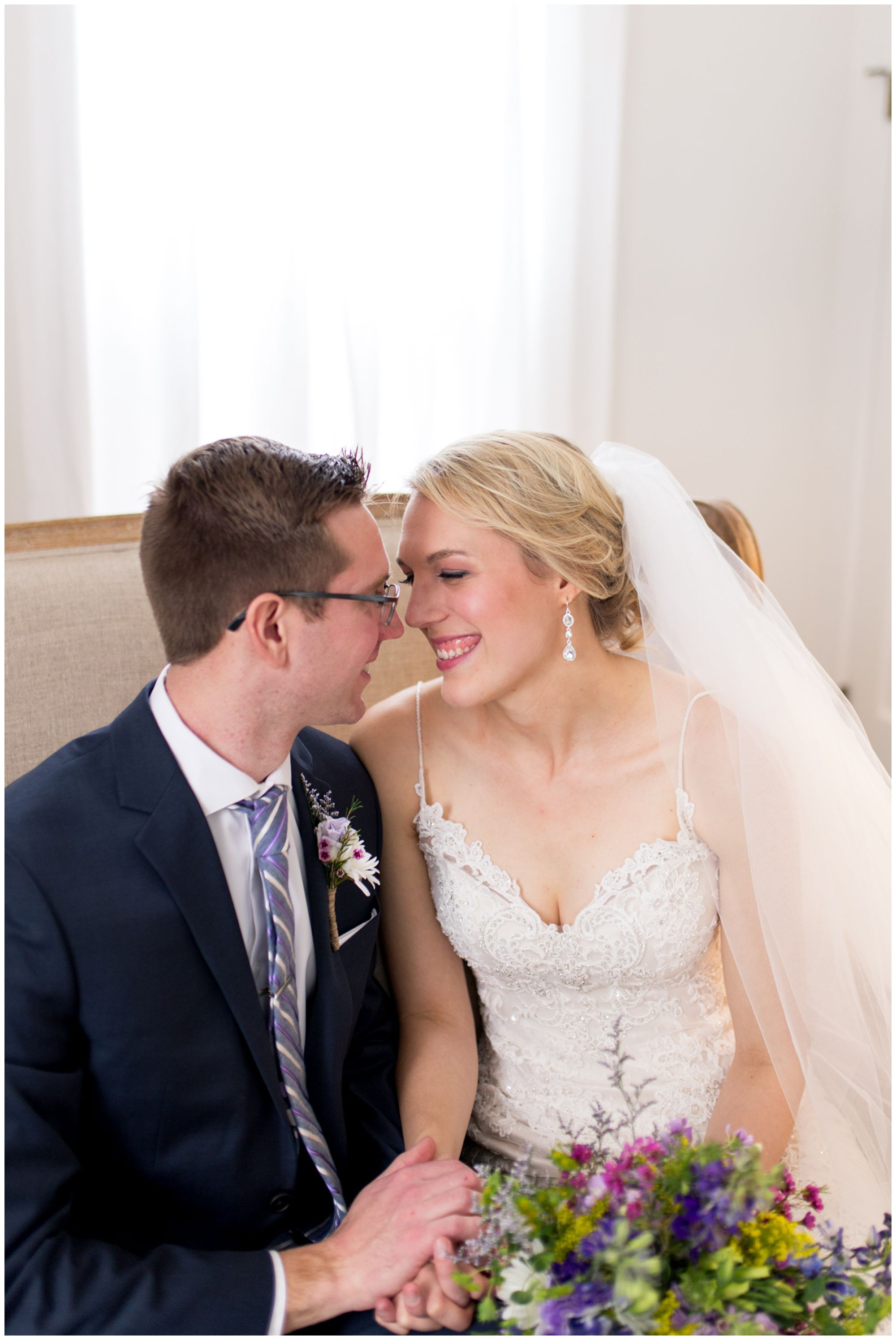 Metsker House bride and groom portraits at Mustard Seed Gardens wedding in Noblesville Indiana