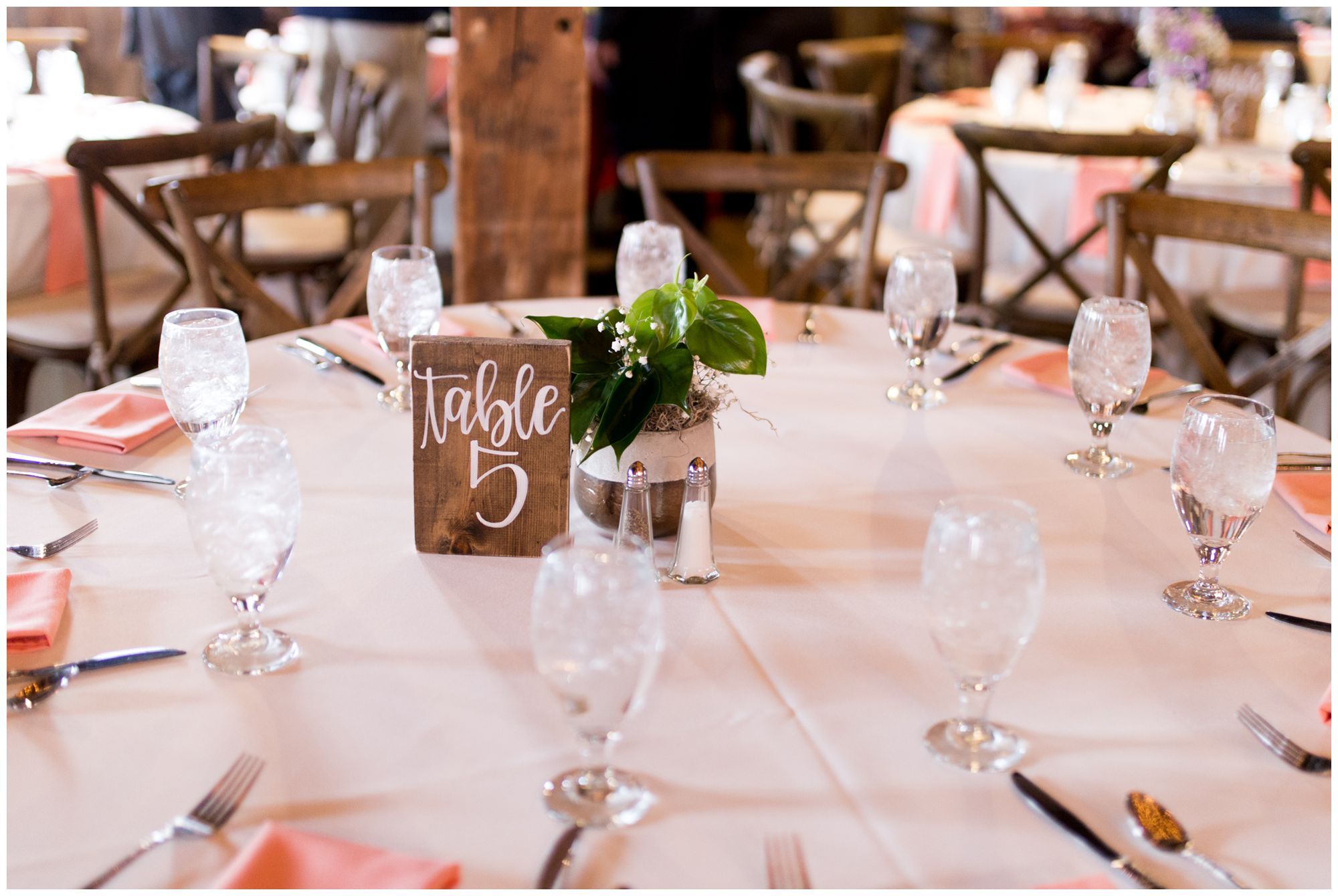 Mustard Seed Gardens wedding reception rustic table decor in Noblesville Indiana