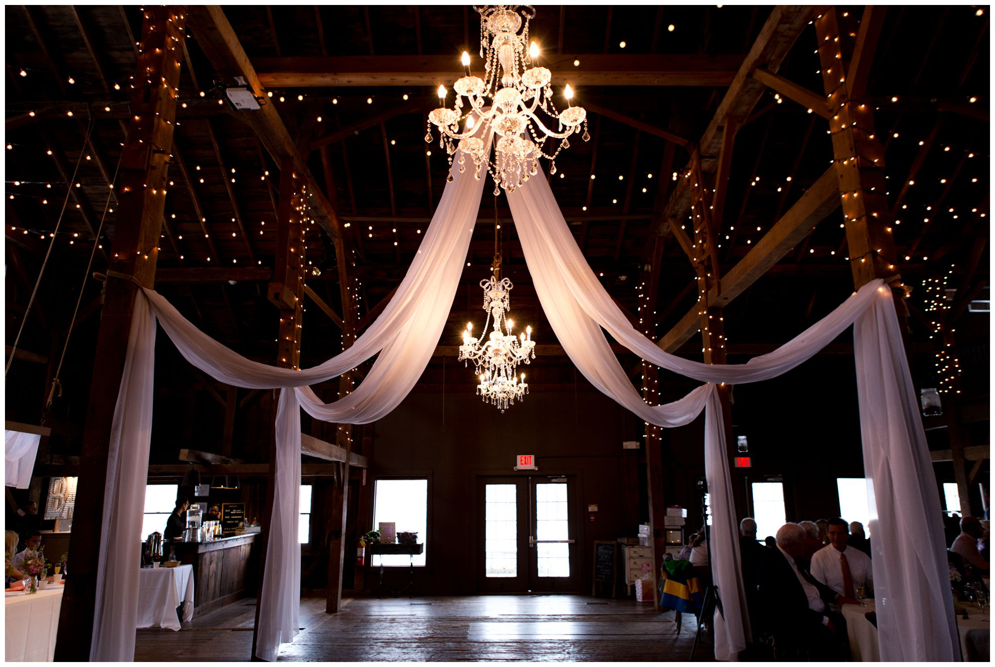 Mustard Seed Gardens Olde Barn wedding reception decor