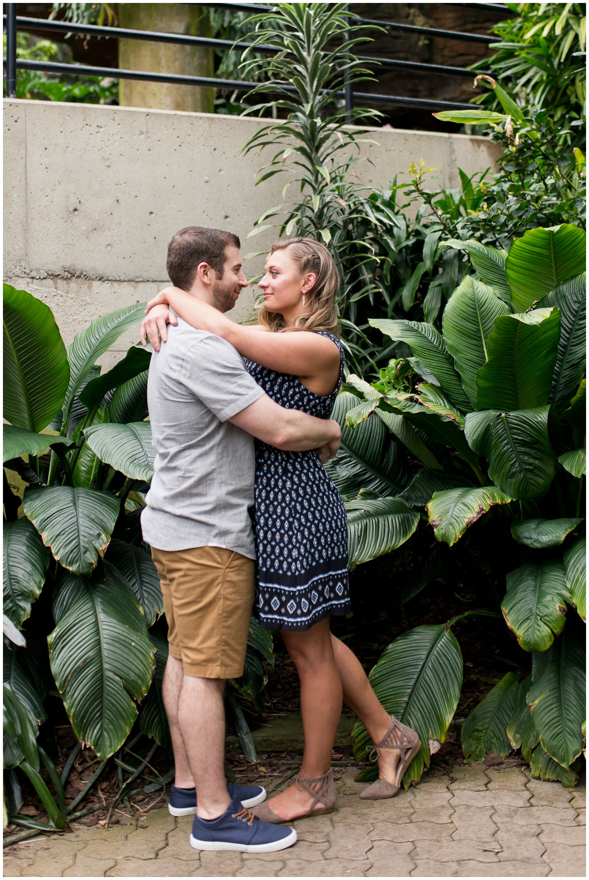Fort Wayne Wedding Photographer Engagement Session At Foellinger Freimann  Botanical Conservatory
