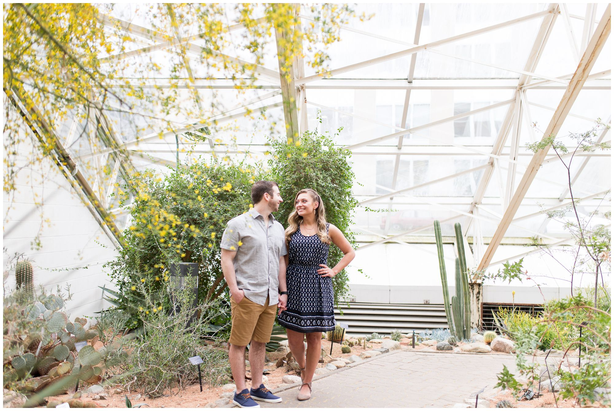 Fort Wayne engagement photography at Foellinger-Freimann Botanical Conservatory