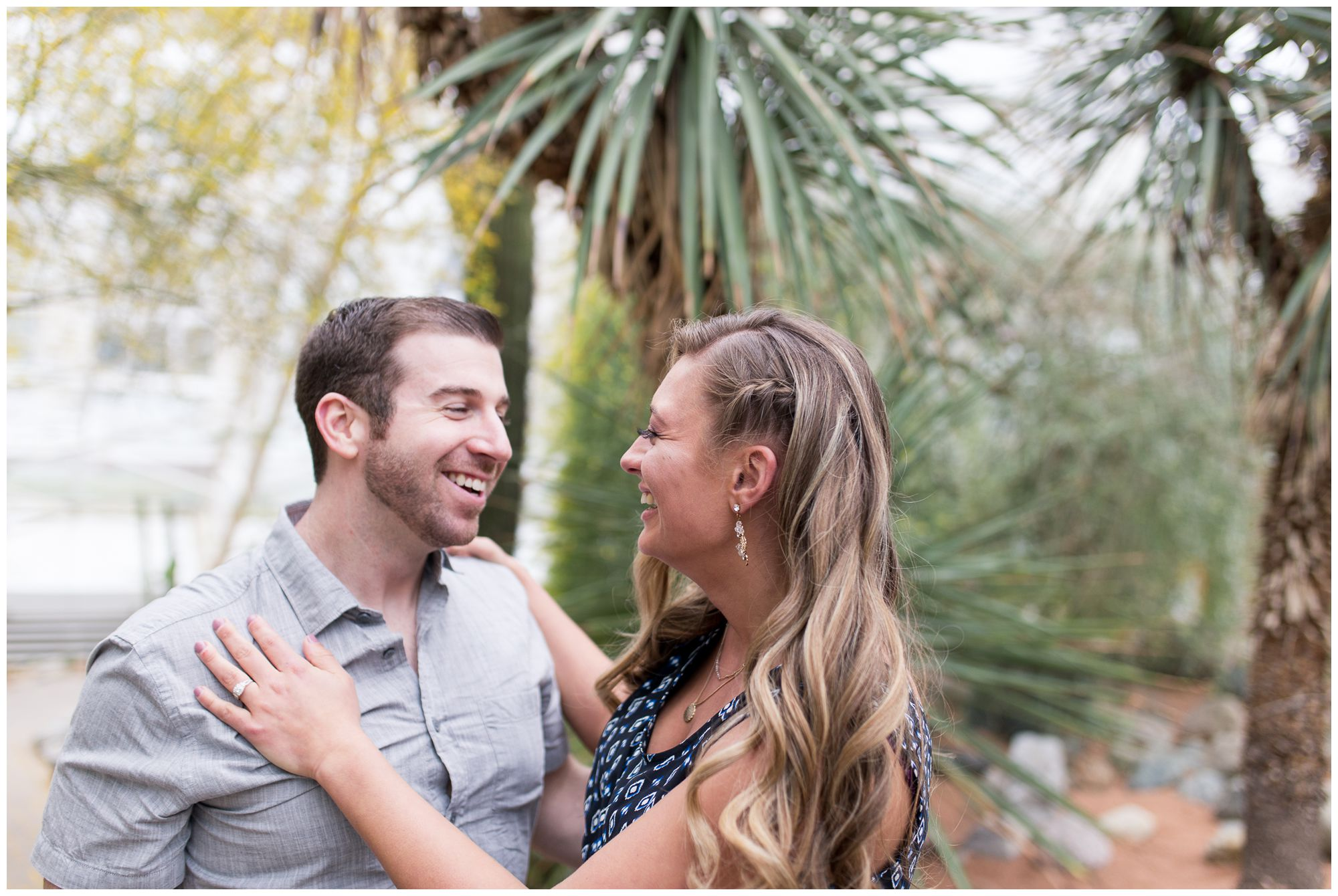 Fort Wayne engagement and wedding photographer at Foellinger-Freimann Botanical Conservatory
