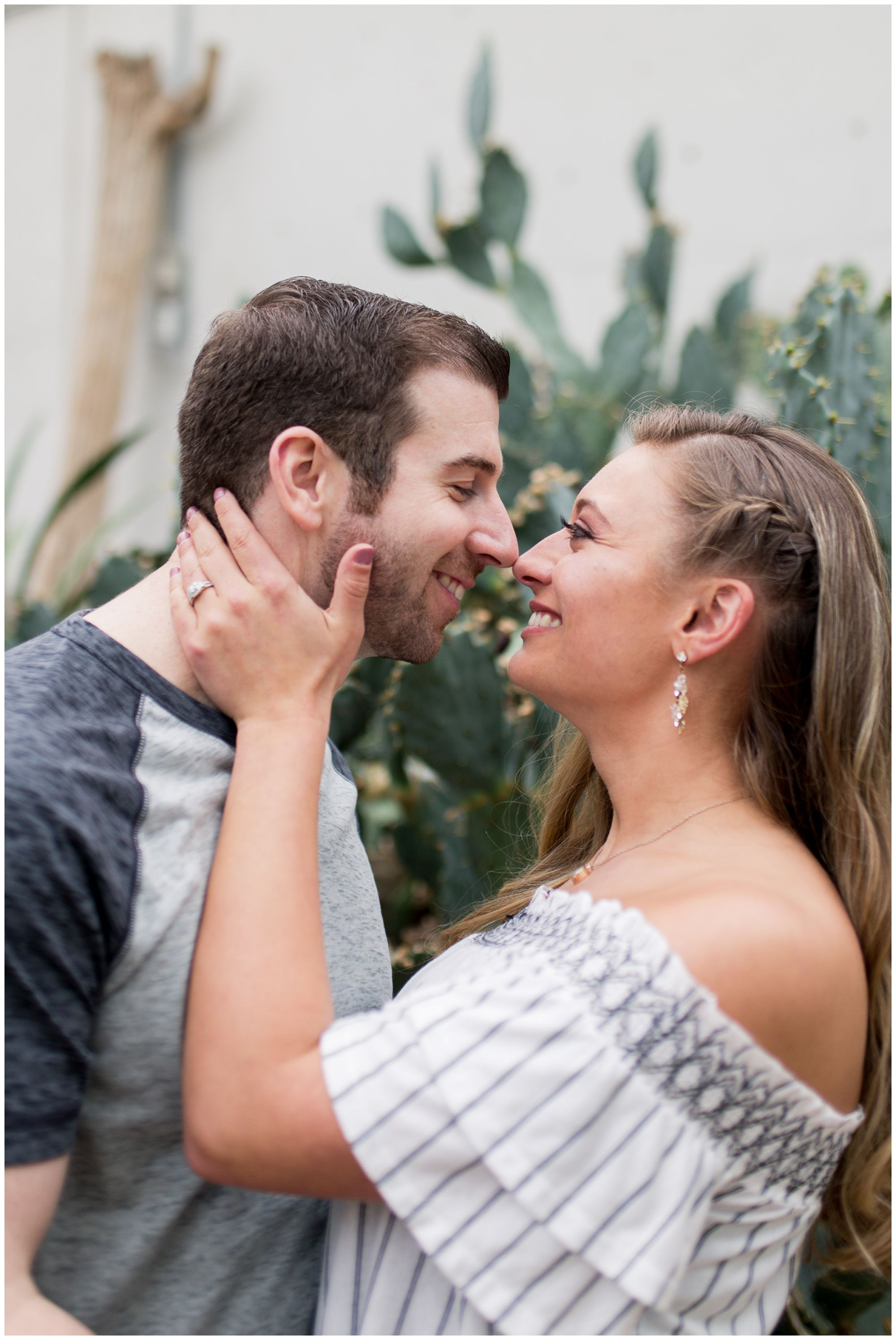 Fort Wayne wedding photographer at Foellinger-Freimann Botanical Conservatory for engagement session