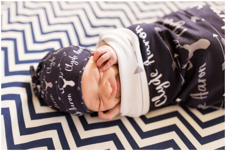 newborn smiling during Kokomo newborn session