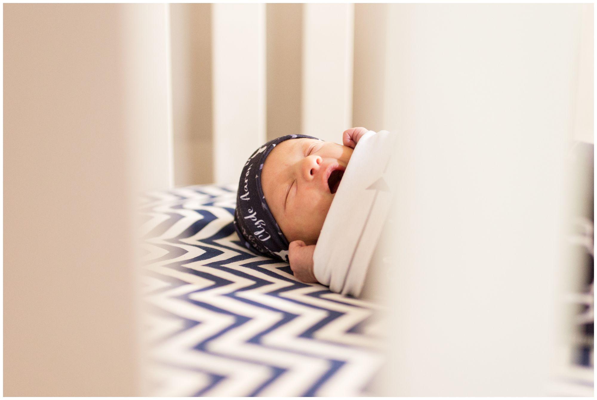 newborn yawns during Kokomo Indiana newborn session