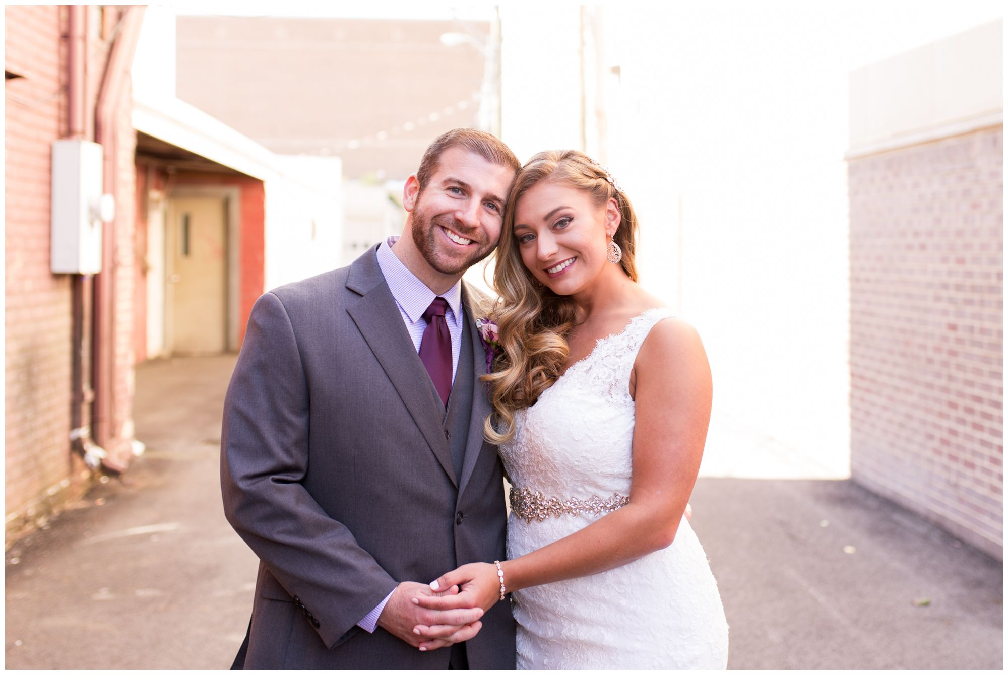 bride and groom Wabash wedding portraits at Charley Creek Inn
